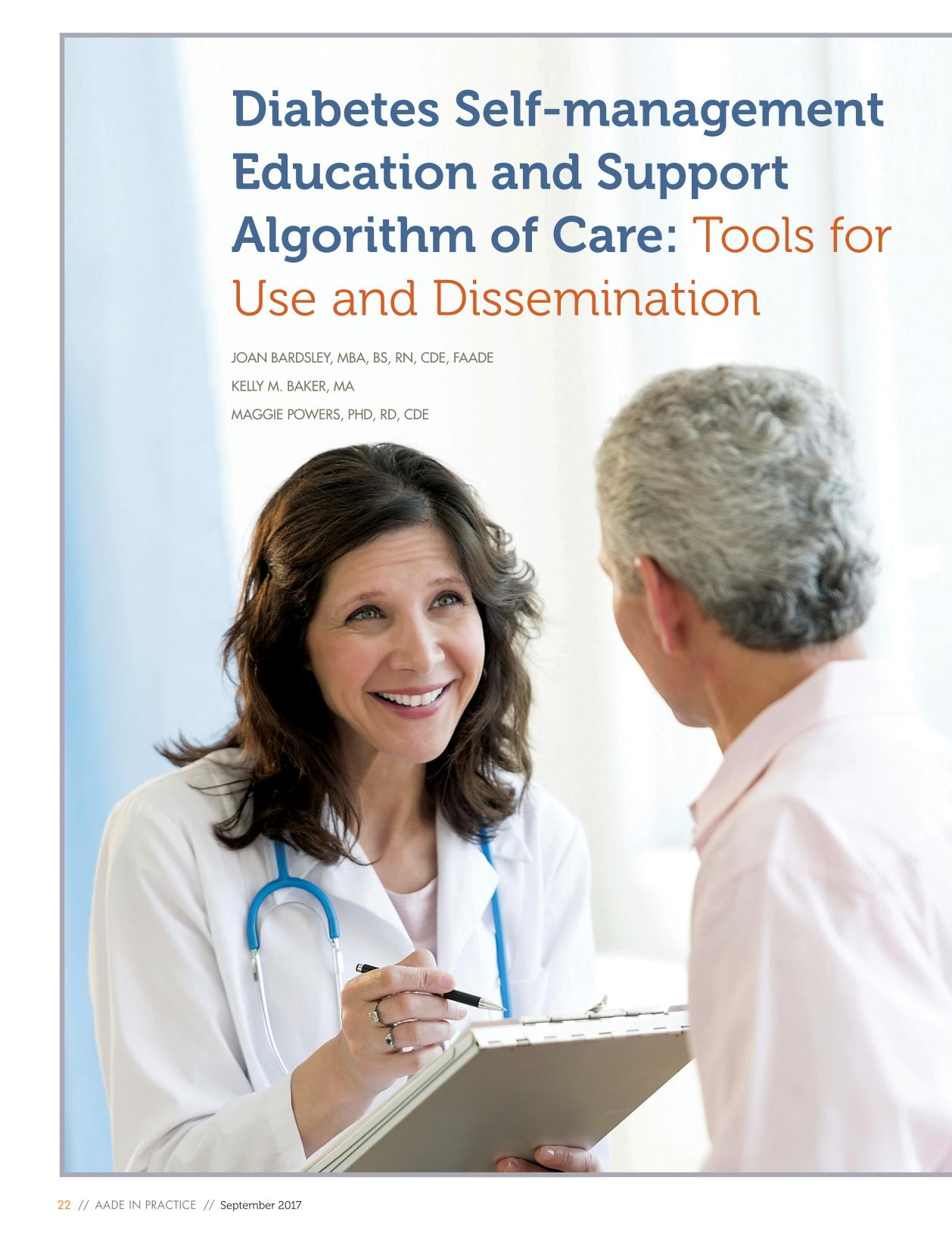 A capa do livro Diabetes Self-management Education and Support Algorithm of Care: Tools for Use and Dissemination