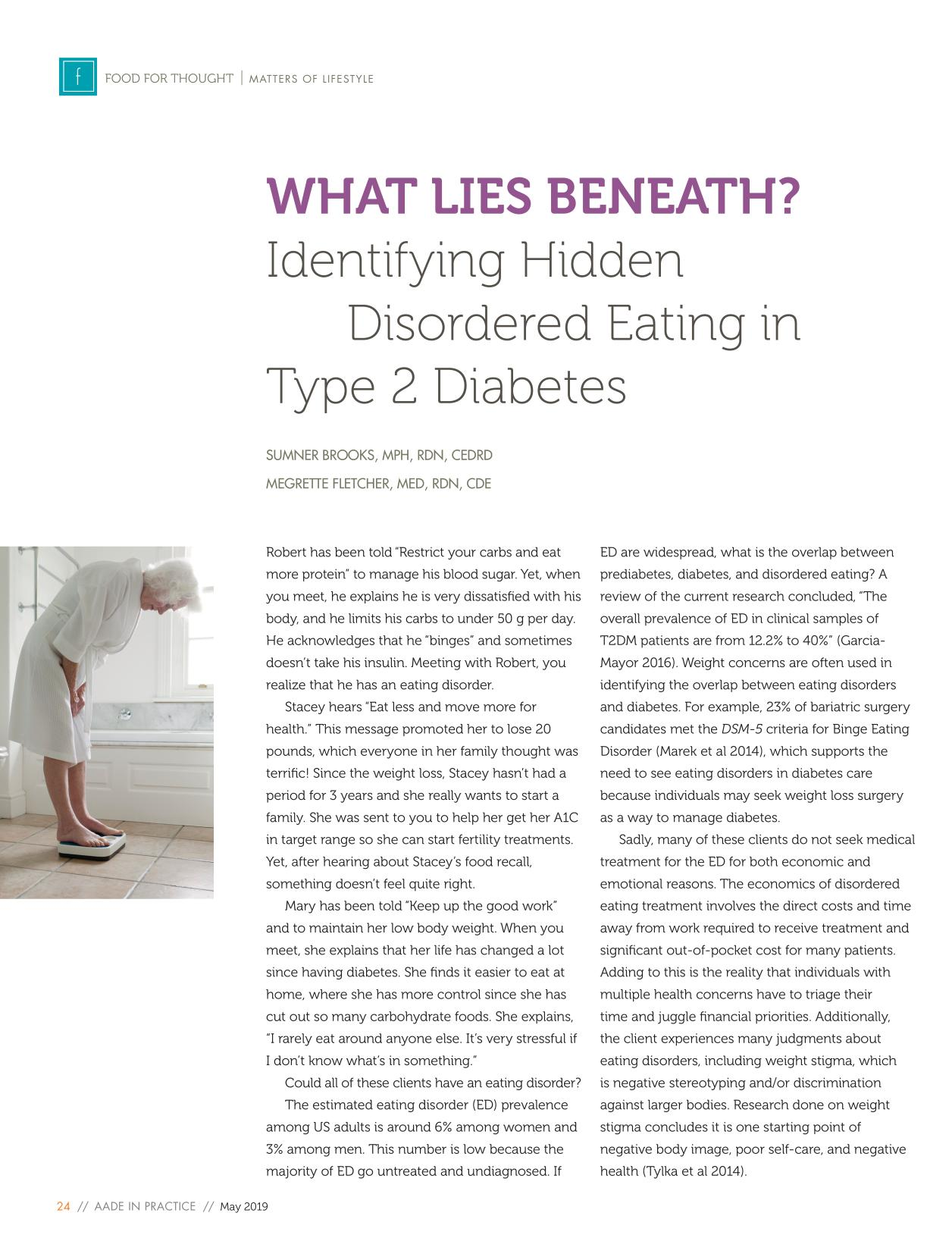 წიგნის ყდა What Lies Beneath? Identifying Hidden Disordered Eating in Type 2 Diabetes