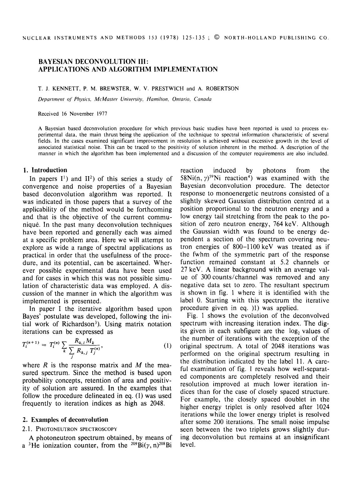 書籍の表紙 Bayesian deconvolution III: Applications and algorithm implementation
