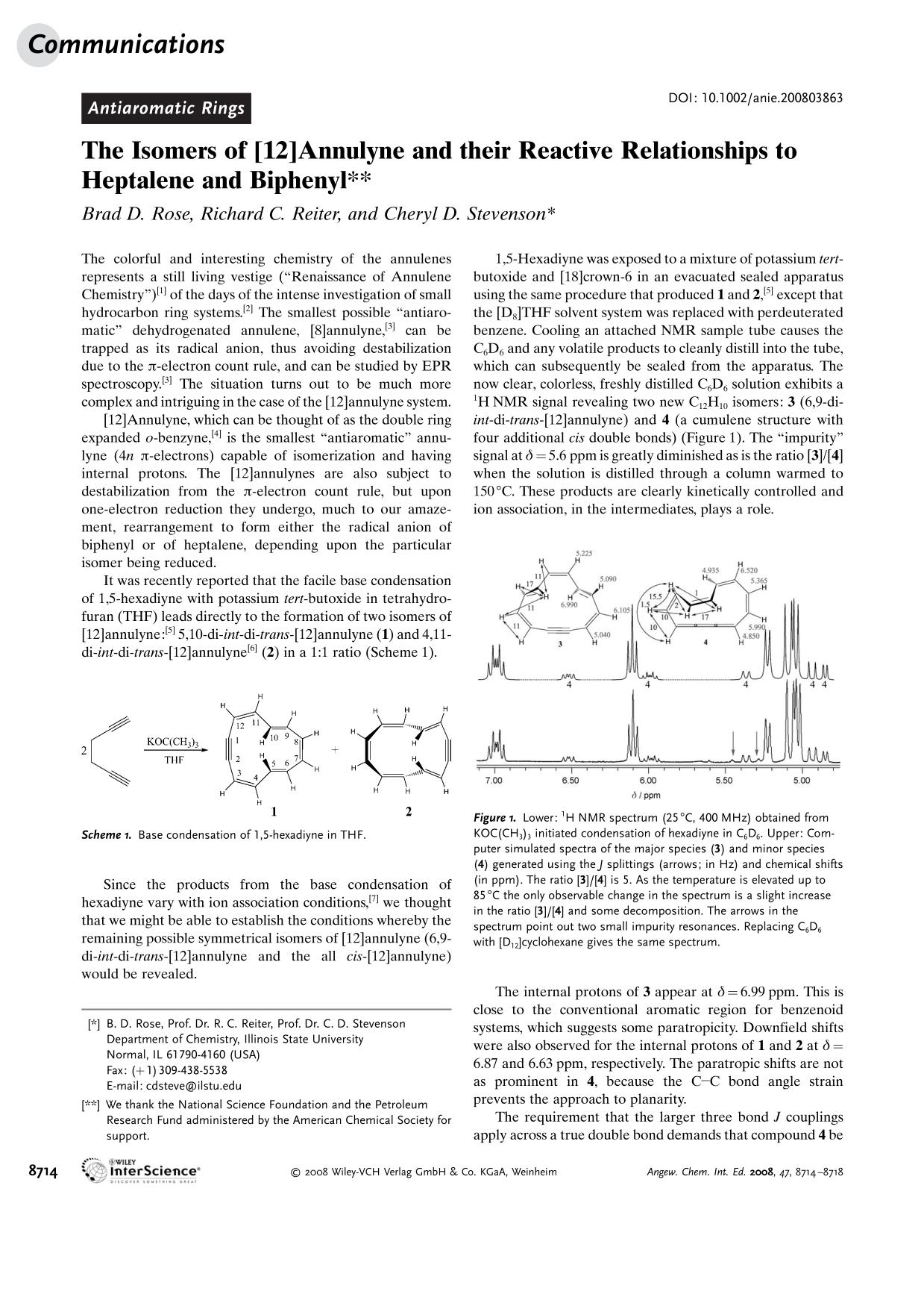 Kover buku The Isomers of [12]Annulyne and their Reactive Relationships to Heptalene and Biphenyl