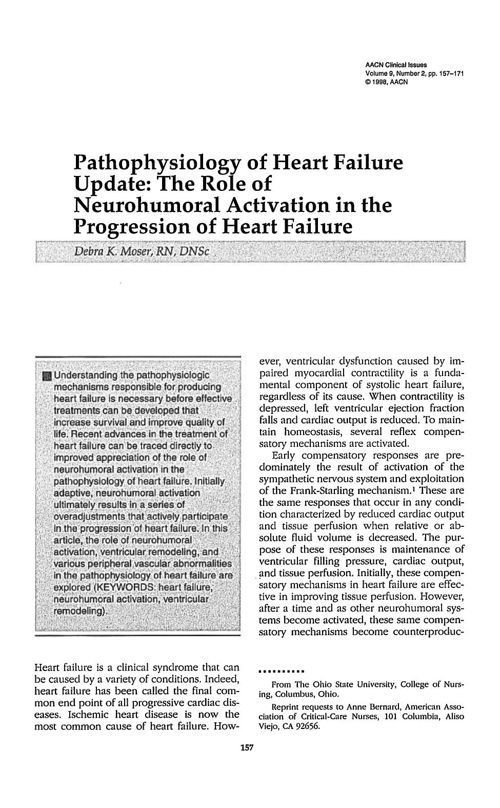 Book cover Pathophysiology of Heart Failure Update: The Role of Neurohumoral Activation in the Progression of Heart Failure