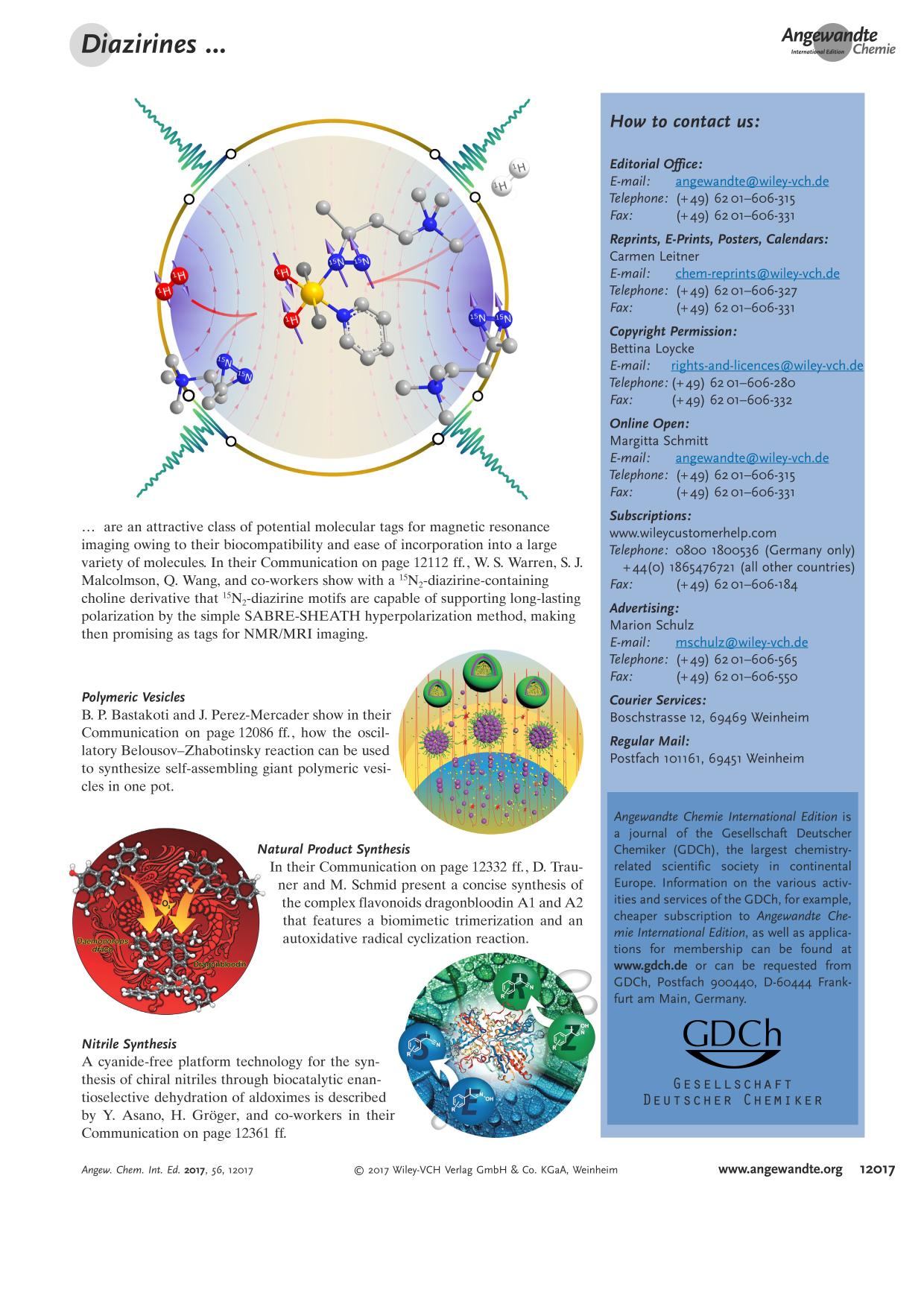 Buchcover Graphical Abstract: Angew. Chem. Int. Ed. 40/2017