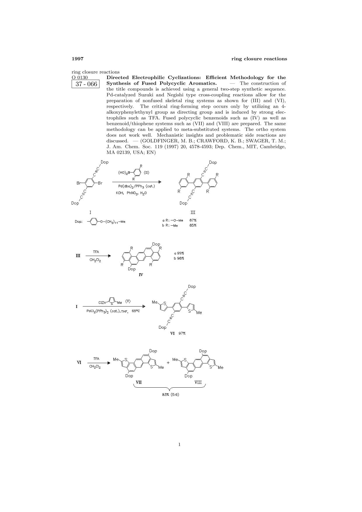 पुस्तक आवरण ChemInform Abstract: Directed Electrophilic Cyclizations: Efficient Methodology for the Synthesis of Fused Polycyclic Aromatics.<span></span>