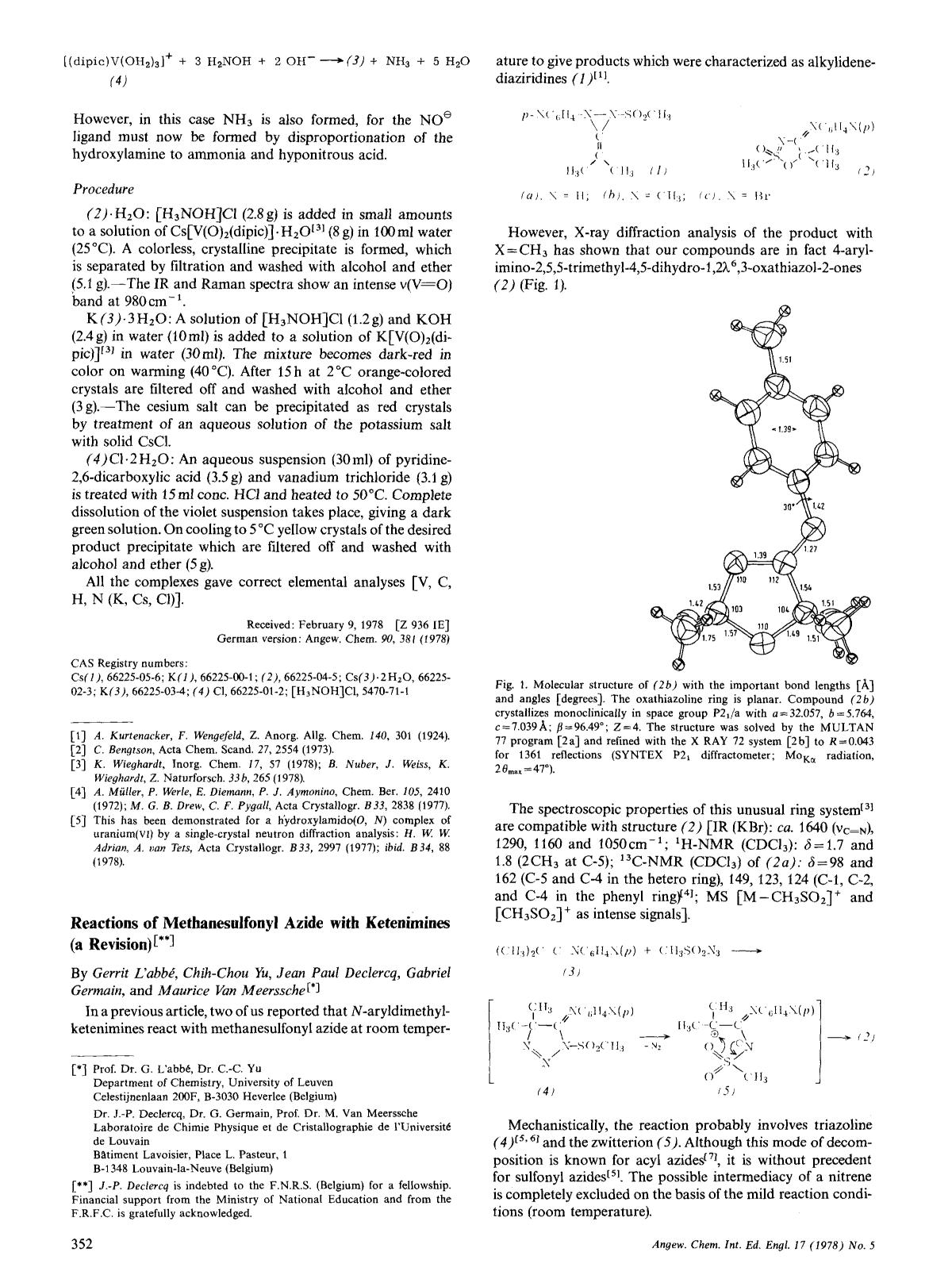 Book cover Reactions of Methanesulfonyl Azide with Ketenimines (a Revision)
