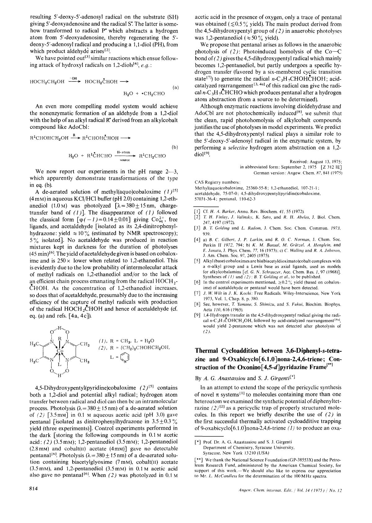 Buchcover Thermal Cycloaddition between 3,6-Diphenyl-<em>s</em>-tetrazine and 9-Oxabicyclo[6.1.0]nona-2,4,6-triene; Construction of the Oxonino [4,5-<em>d</em>]pyridazine Frame