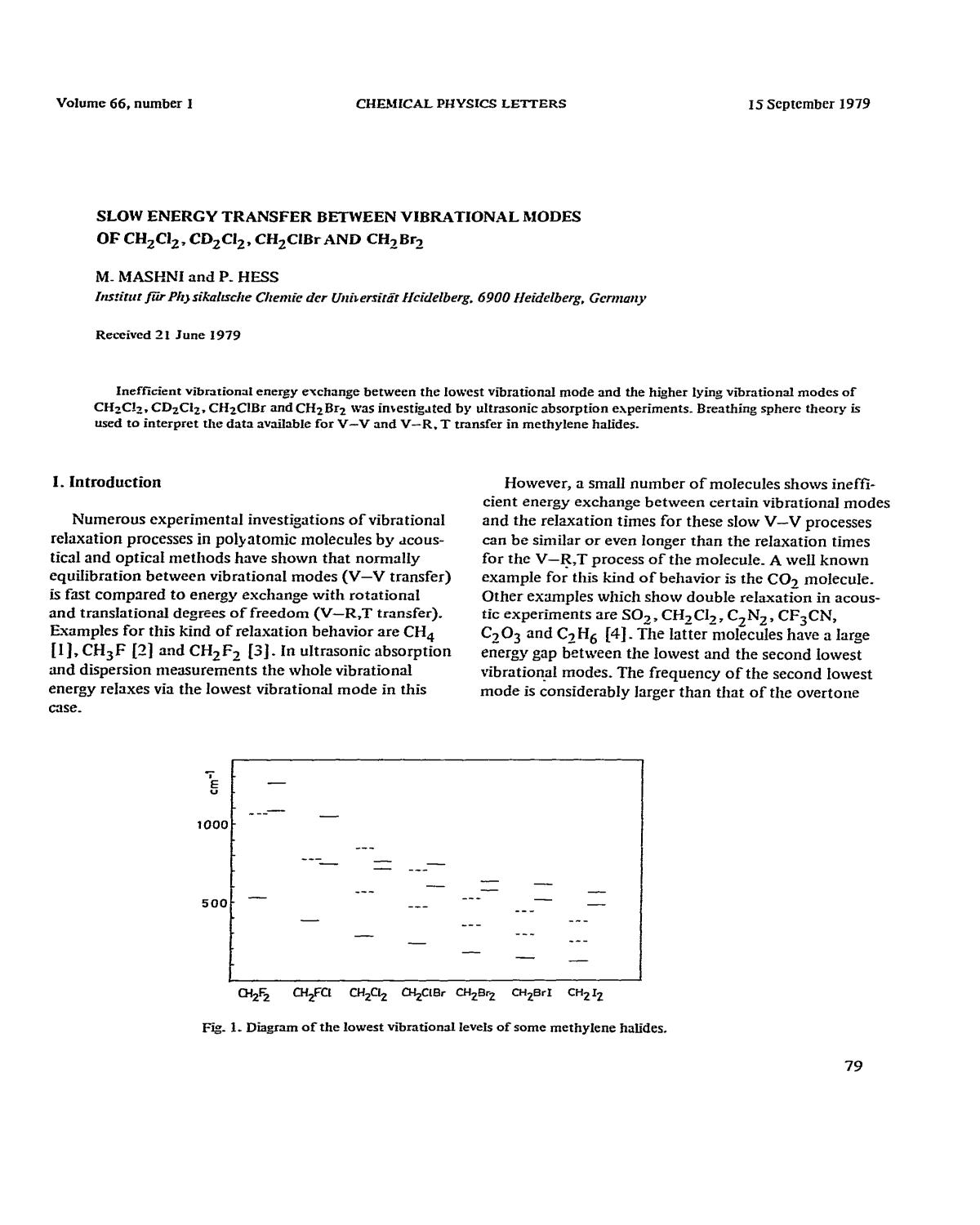 書籍の表紙 Slow energy transfer between vibrational models of CH2Cl2, CD2Cl2, CH2ClBr and CH2Br2