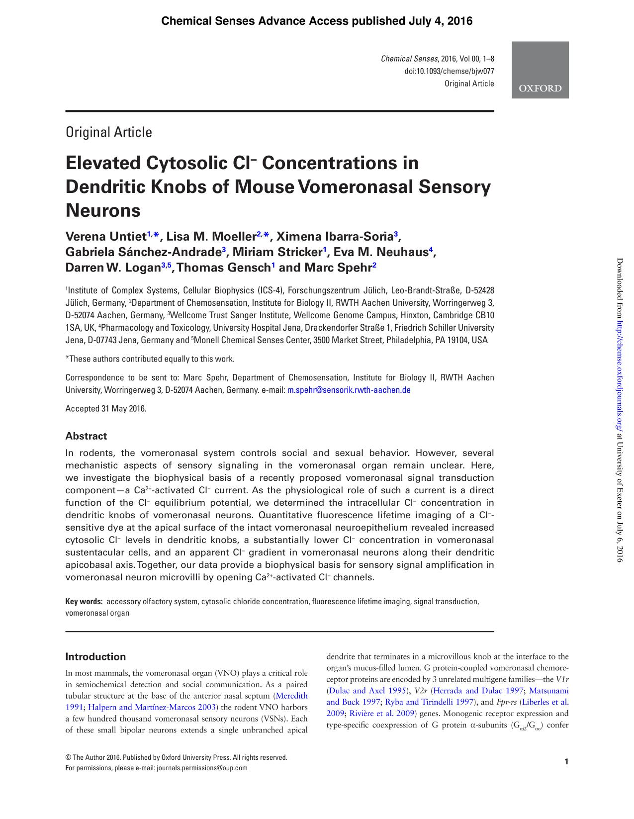 Portada del libro Elevated Cytosolic Cl<br />