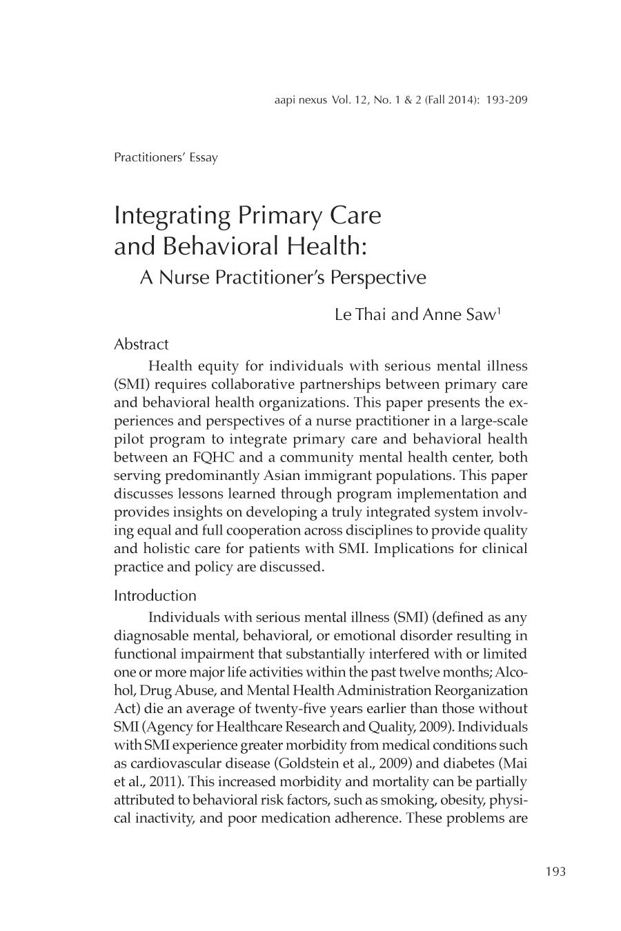غلاف الكتاب Integrating Primary Care and Behavioral Health: A Nurse Practitioner's