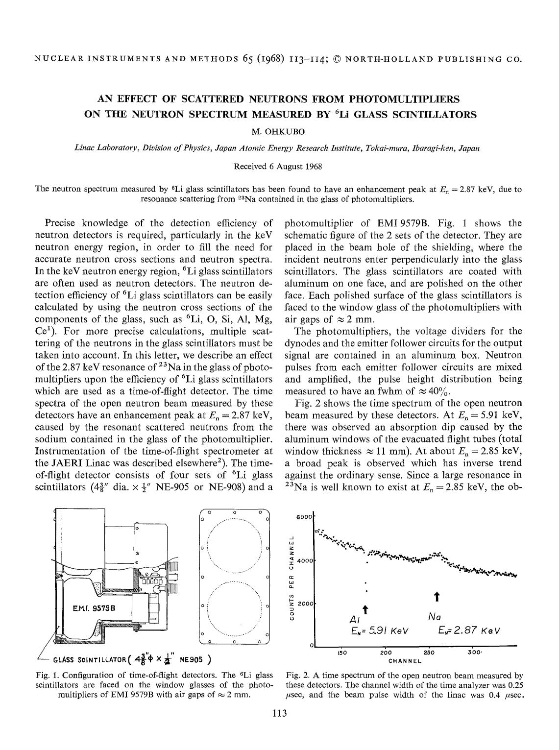 Sampul buku An effect of scattered neutrons from photomultipliers on the neutron spectrum measured by 6Li glass scintillators
