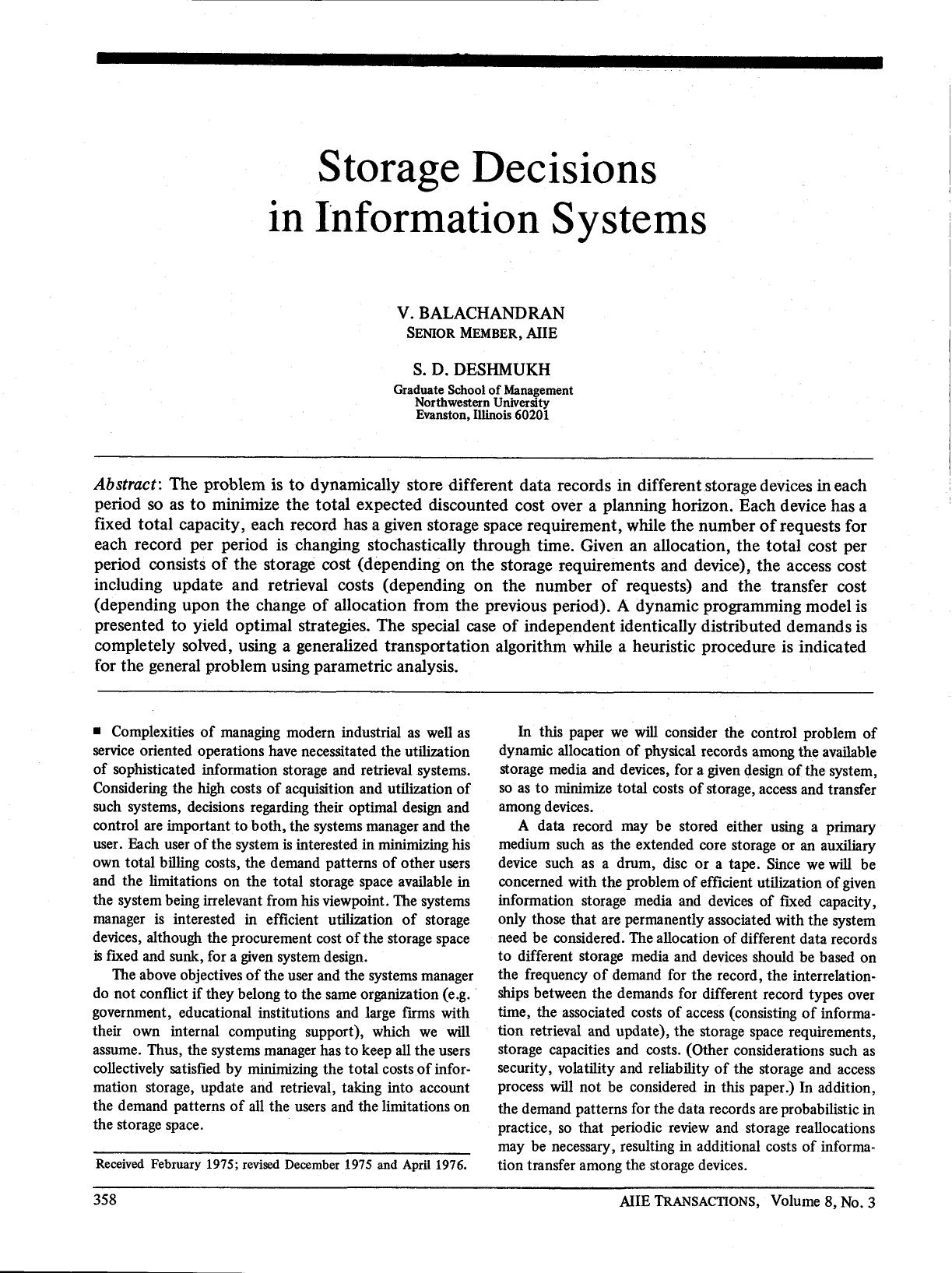 Kover buku Storage Decisions in Information Systems