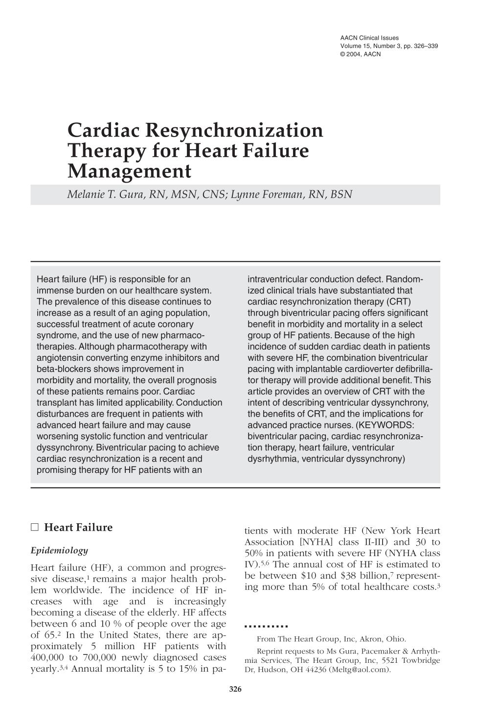Copertina del libro Cardiac Resynchronization Therapy for Heart Failure Management