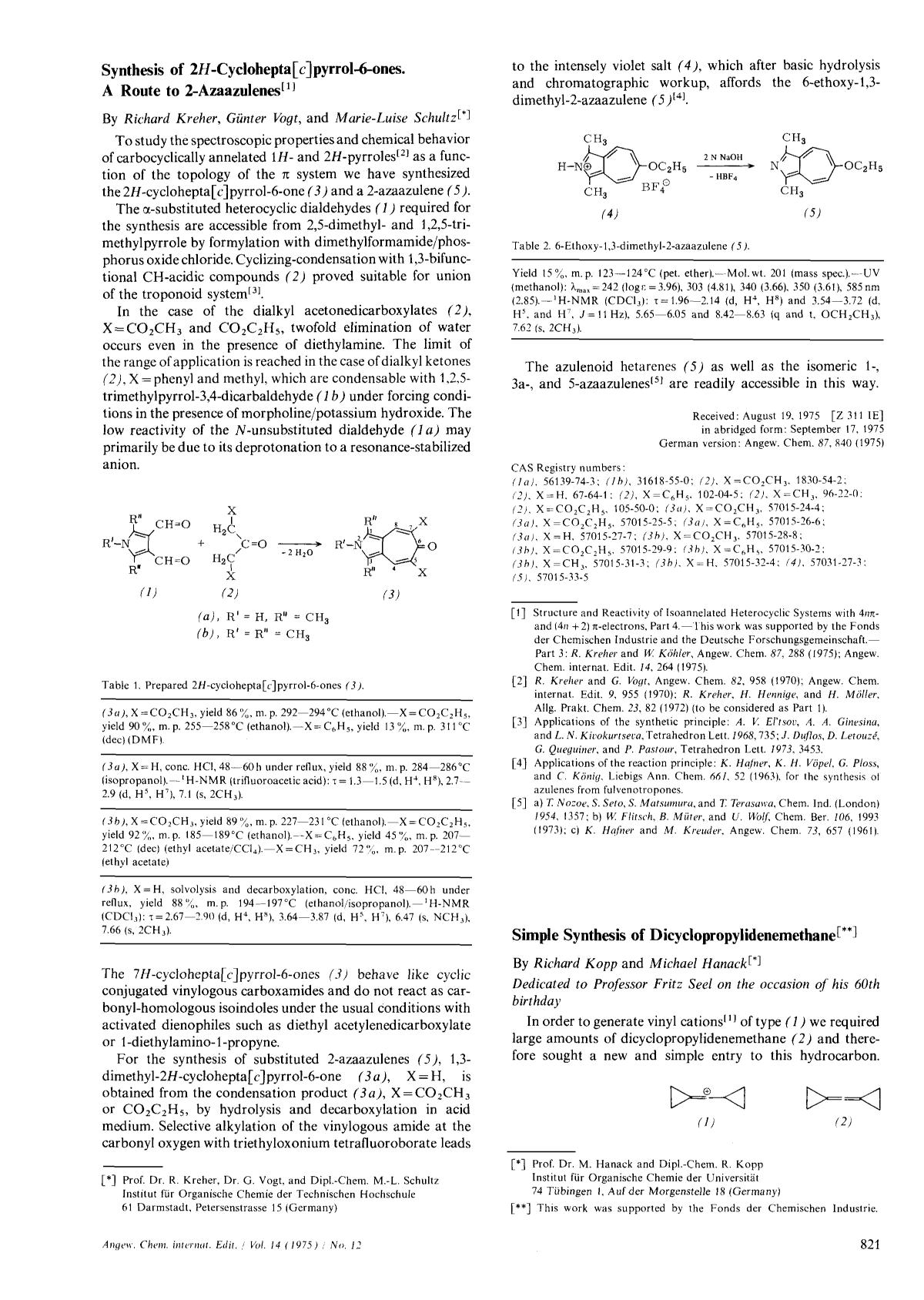 Portada del libro Synthesis of 2<em>H</em>-Cyclohepta[<em>c</em>]pyrrol-6-ones. A Route to 2-Azaazulenes