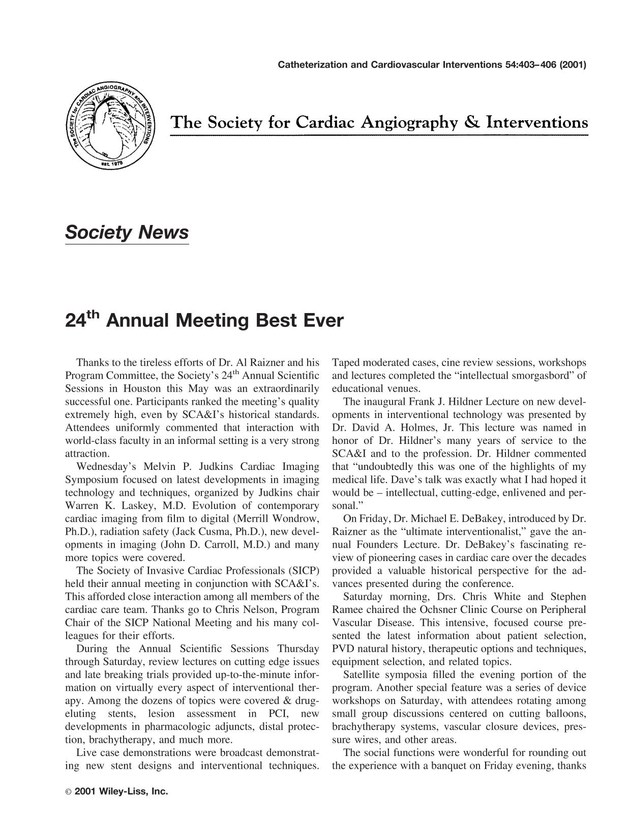 غلاف الكتاب 24th annual meeting best ever