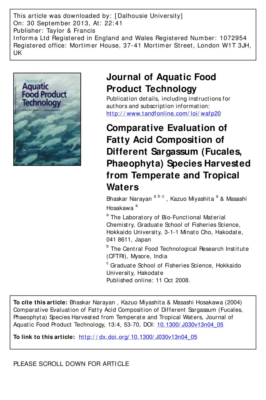 Portada del libro Comparative Evaluation of Fatty Acid Composition of Different<br />