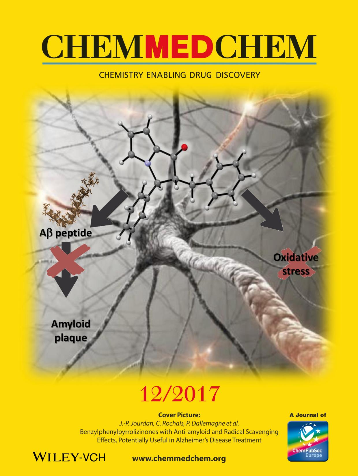 Buchcover Back Cover: Benzylphenylpyrrolizinones with Anti-amyloid and Radical Scavenging Effects, Potentially Useful in Alzheimer's Disease Treatment (ChemMedChem 12/2017)