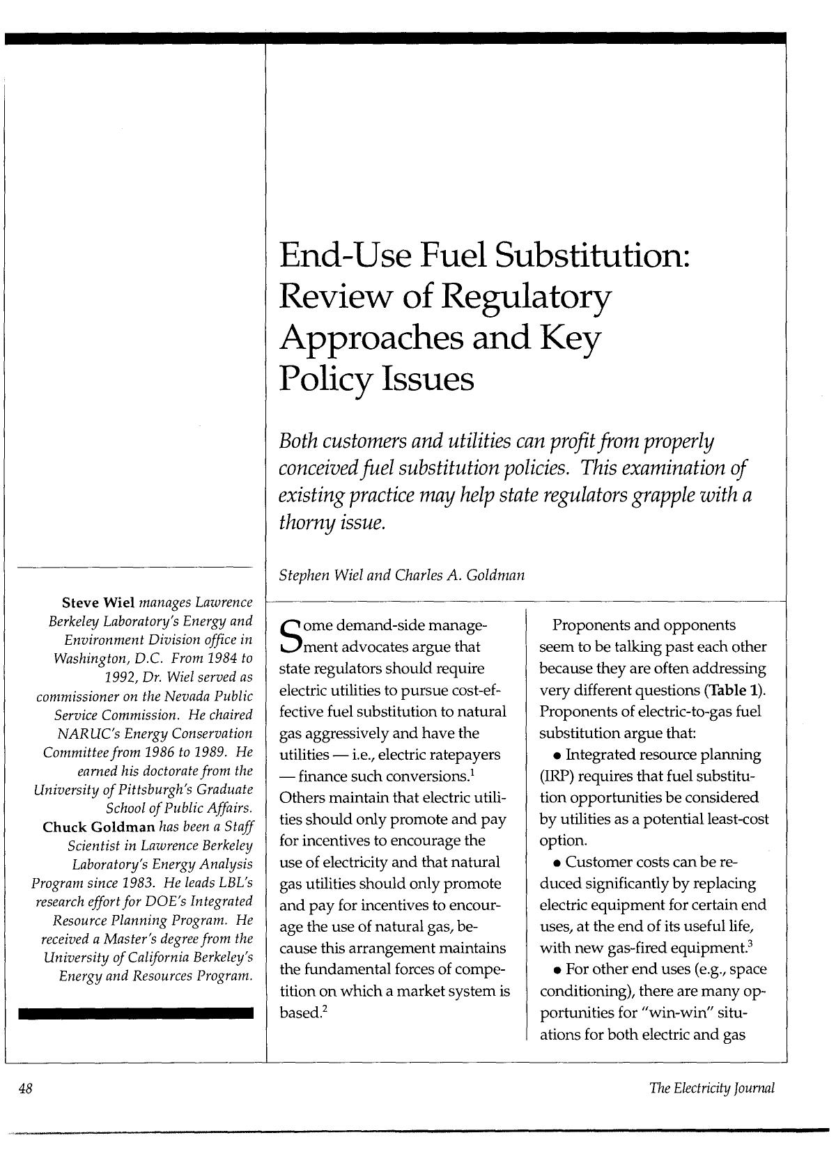 書籍の表紙 End-use fuel substitution: Review of regulatory approaches and key policy issues