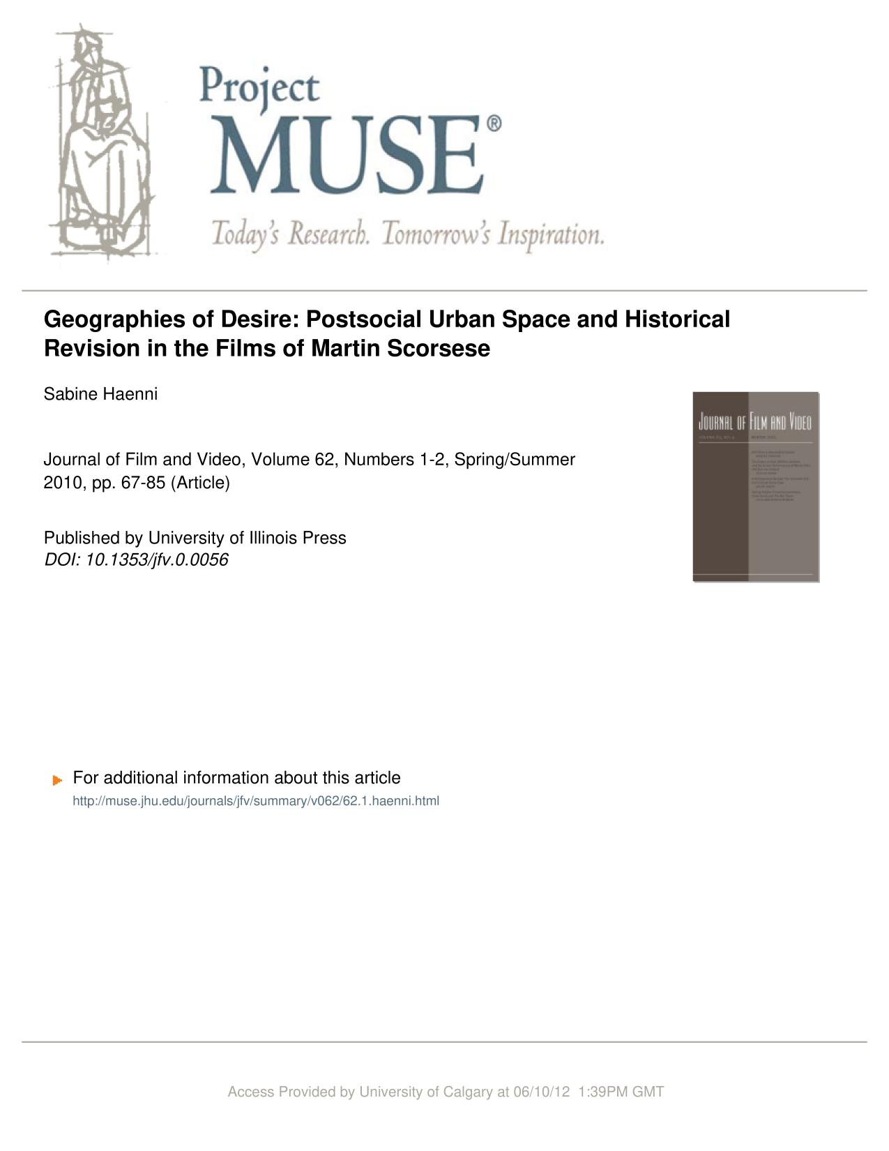 Couverture du livre Geographies of Desire: Postsocial Urban Space and Historical Revision in the Films of Martin Scorsese