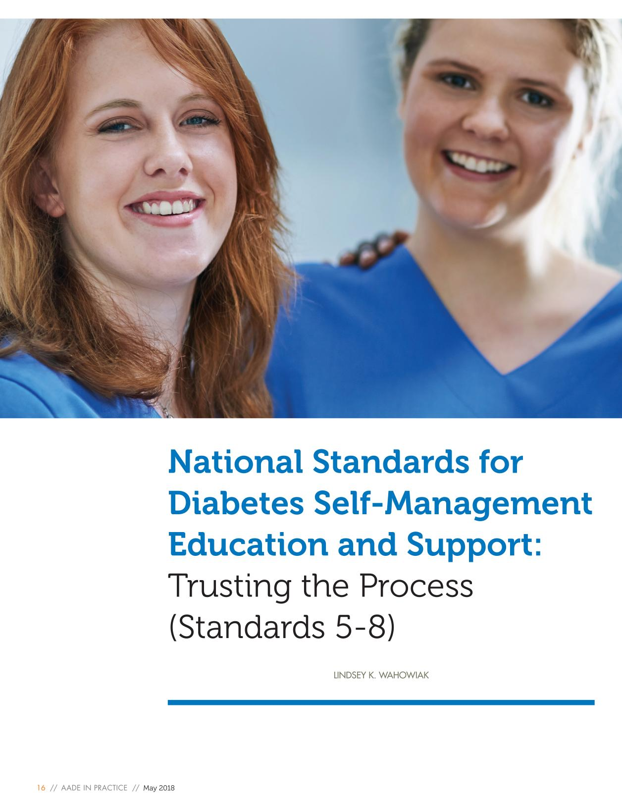 Book cover National Standards for Diabetes Self-Management Education and Support: Trusting the Process (Standards 5-8)