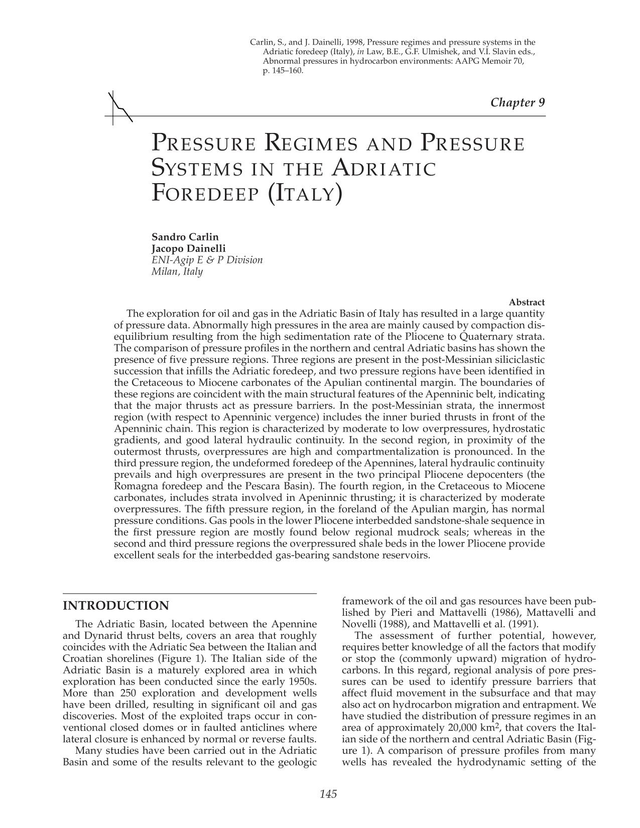 表紙 Pressure regimes and pressure systems in the Adriatic Foredeep (Italy)