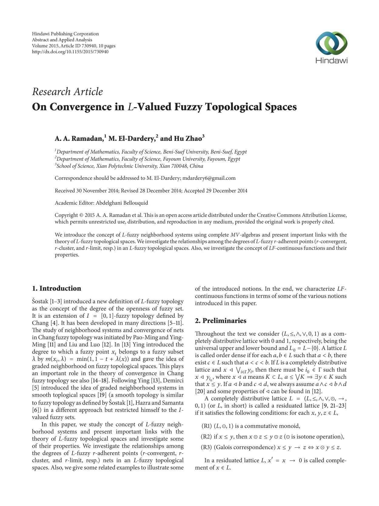 Couverture -Valued Fuzzy Topological Spaces