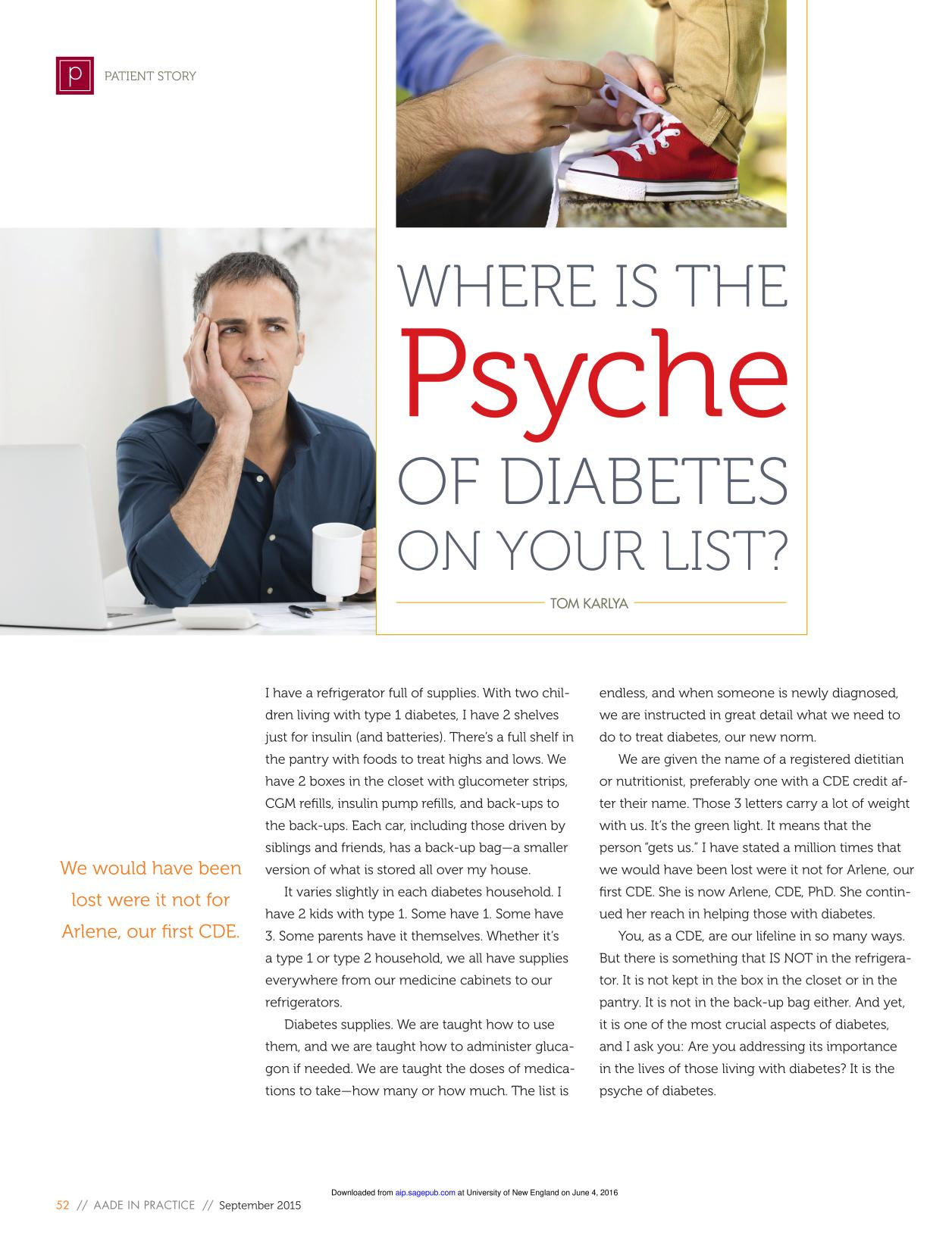 Book cover Where Is the Psyche of Diabetes on Your List?