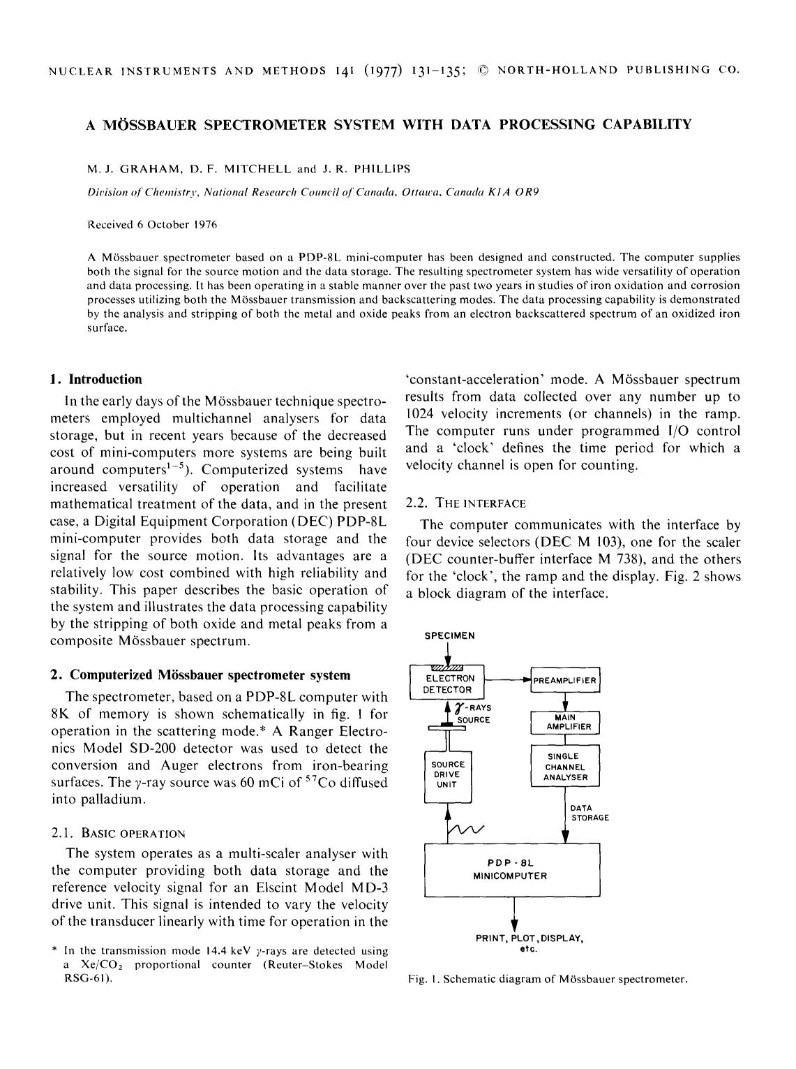 Book cover A Mössbauer spectrometer system with data processing capability