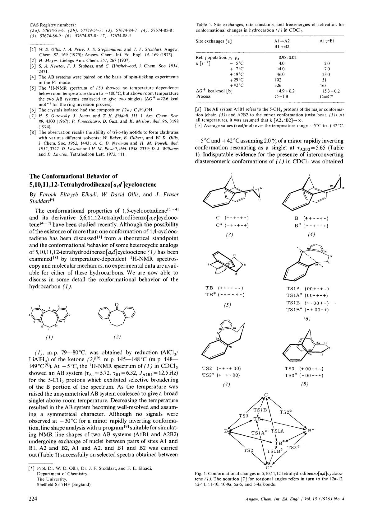 书籍封面 The Conformational Behavior of 5,10,11,12-Tetrahydrodibenzo[<em>a,d</em>]cyclooctene