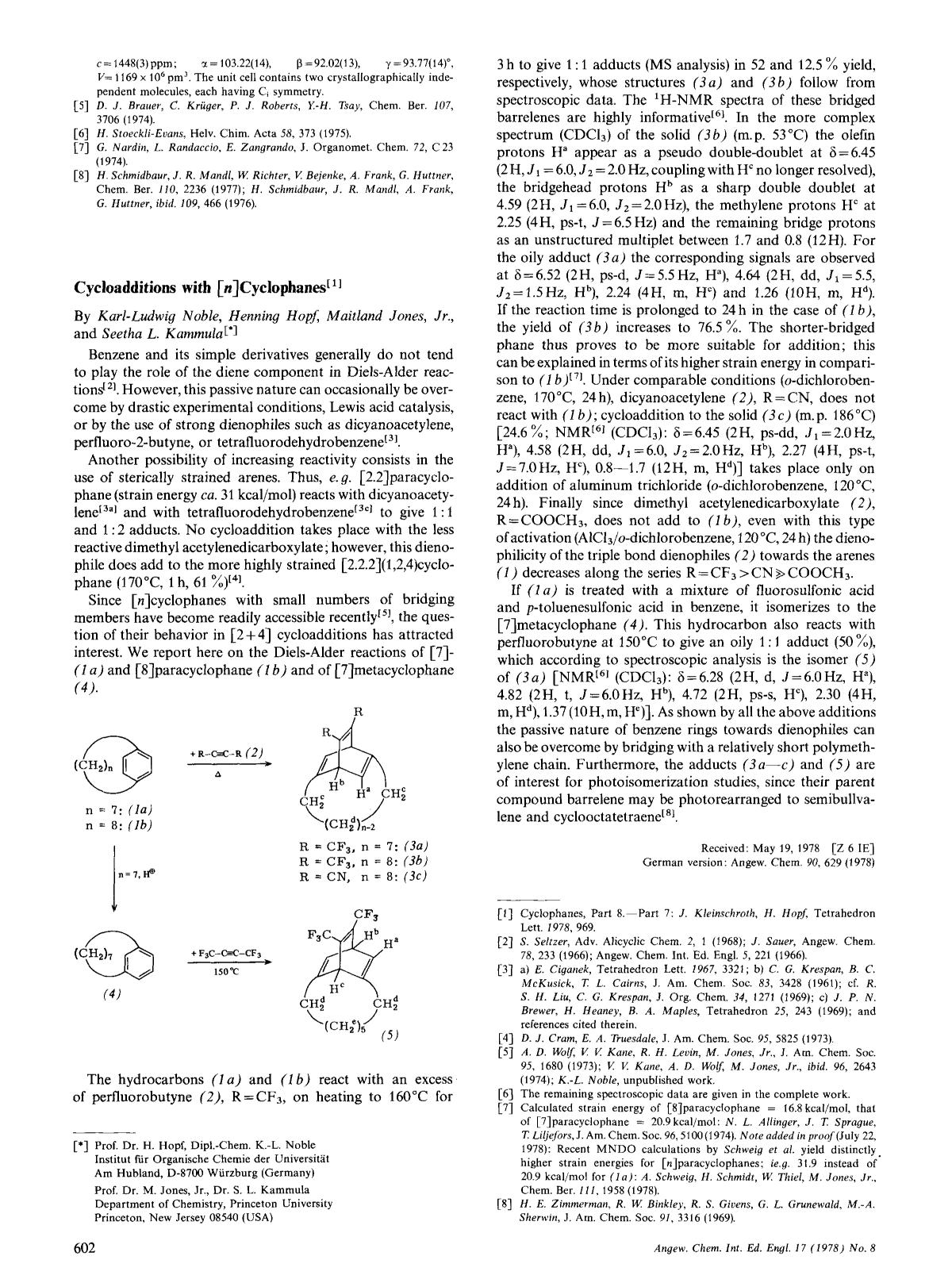 Kover buku Cycloadditions with [<em>n</em>]Cyclophanes