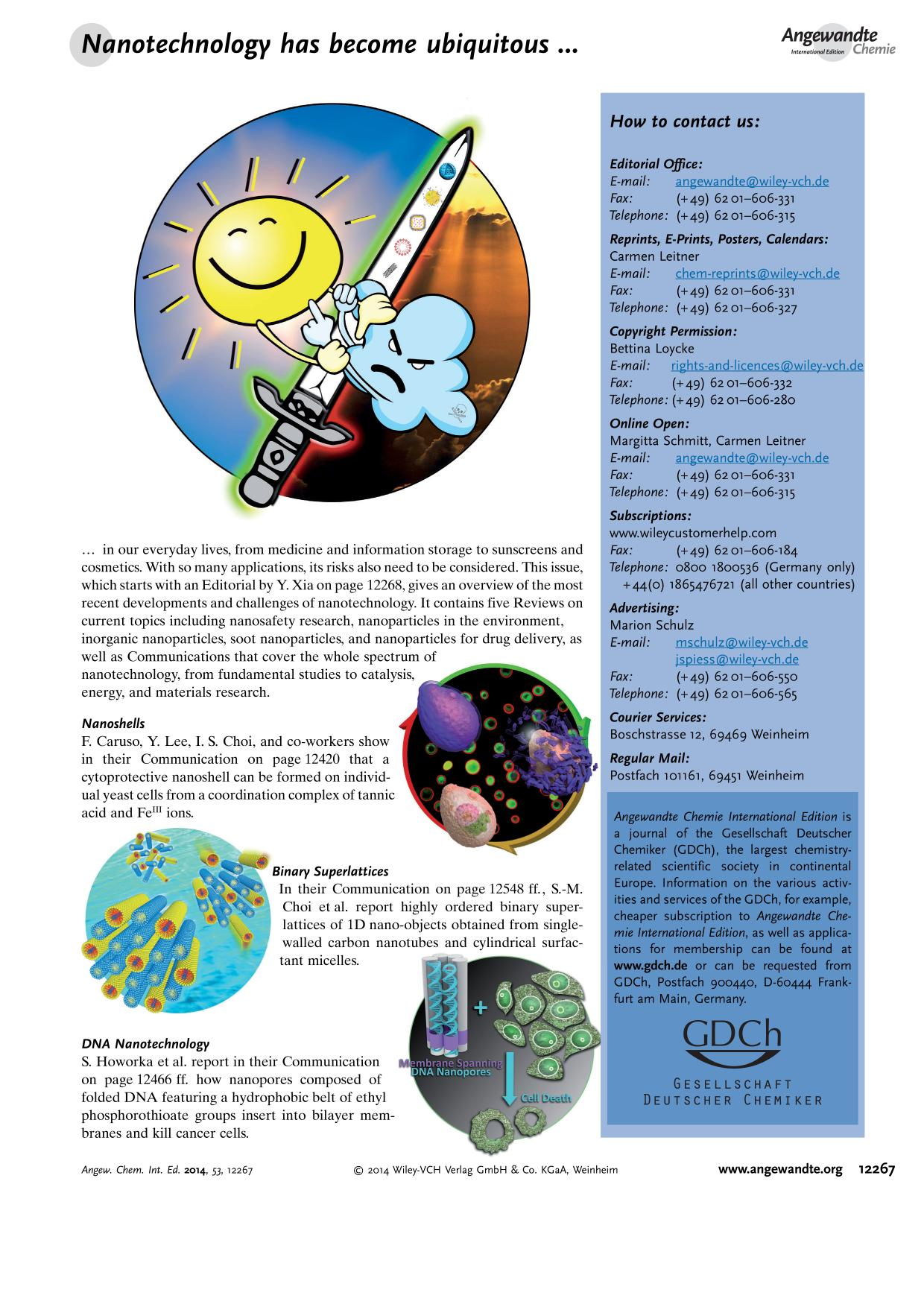 Buchcover Graphical Abstract: Angew. Chem. Int. Ed. 46/2014