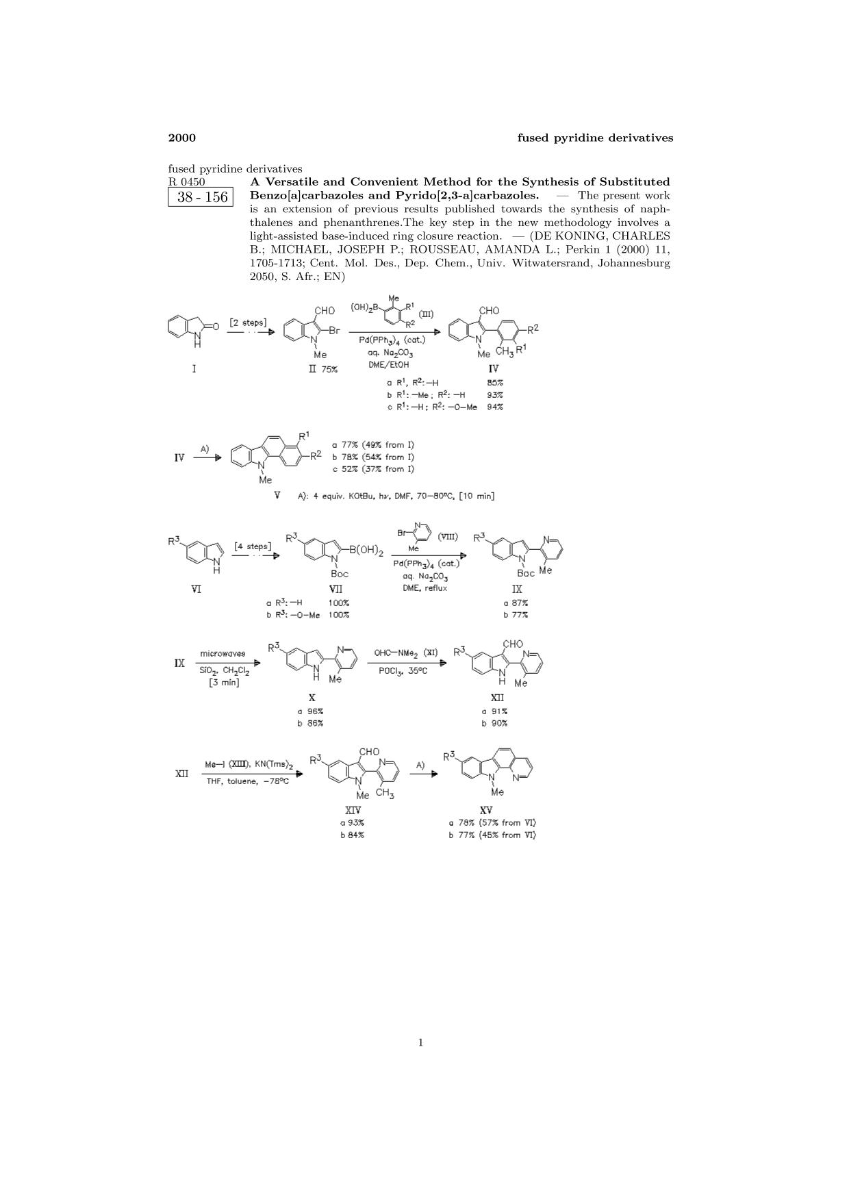 غلاف الكتاب ChemInform Abstract: A Versatile and Convenient Method for the Synthesis of Substituted Benzo[a]carbazoles and Pyrido[2,3-a]carbazoles.<span></span>