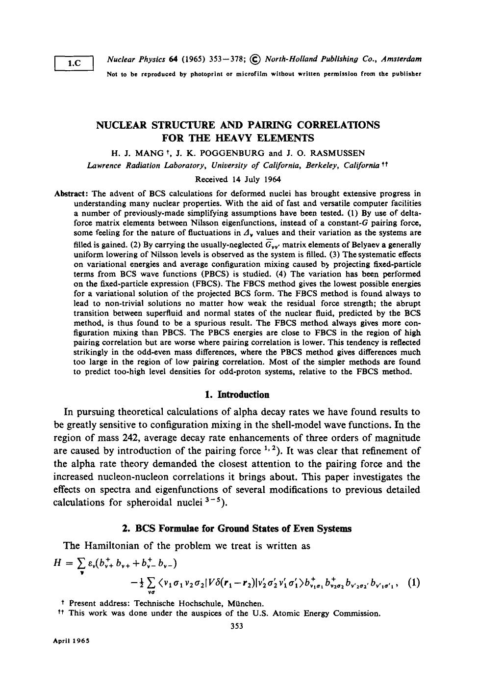 Book cover Nuclear structure and pairing correlations for the heavy elements