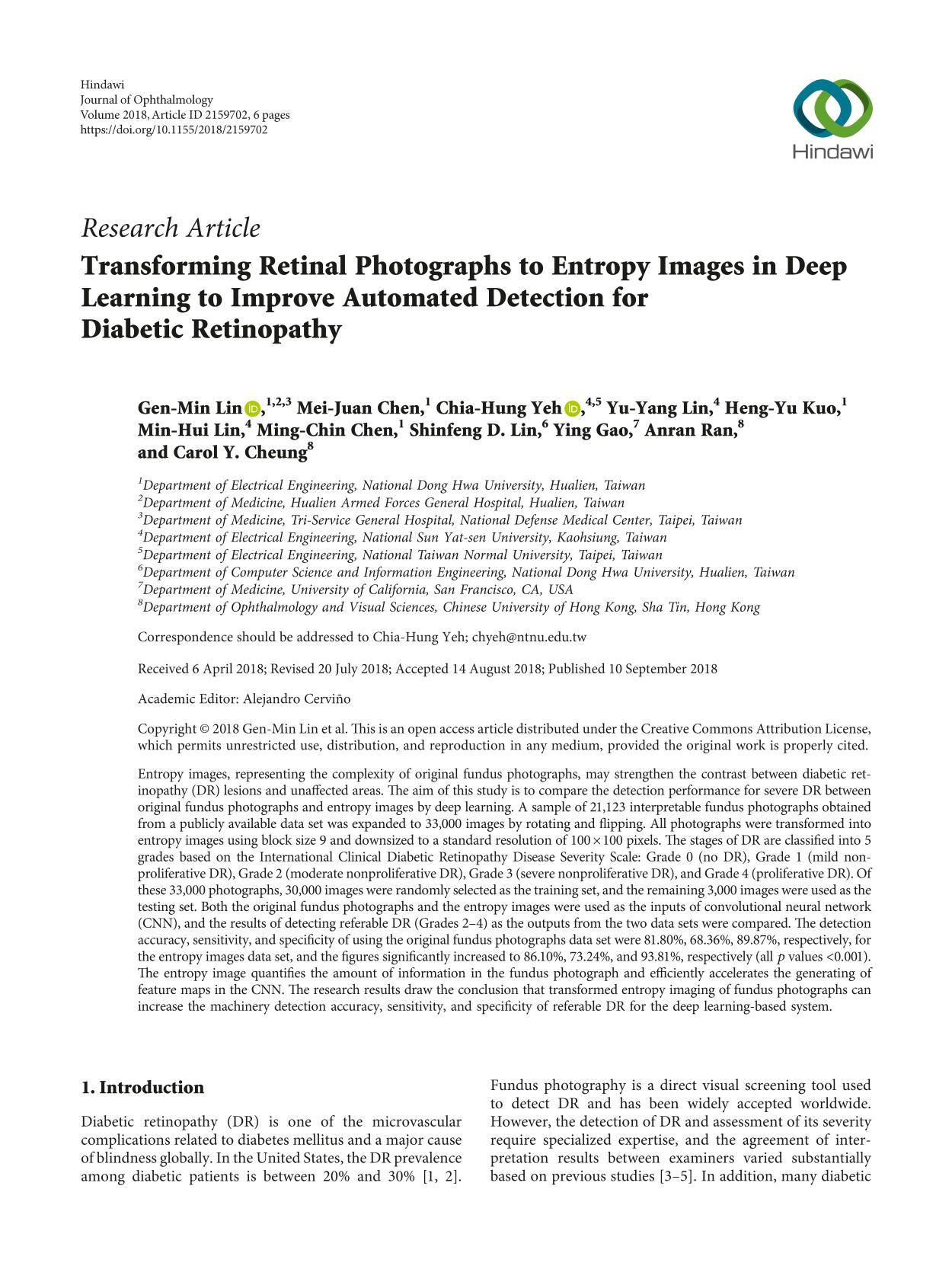 Kulit buku Transforming Retinal Photographs to Entropy Images in Deep Learning to Improve Automated Detection for Diabetic Retinopathy