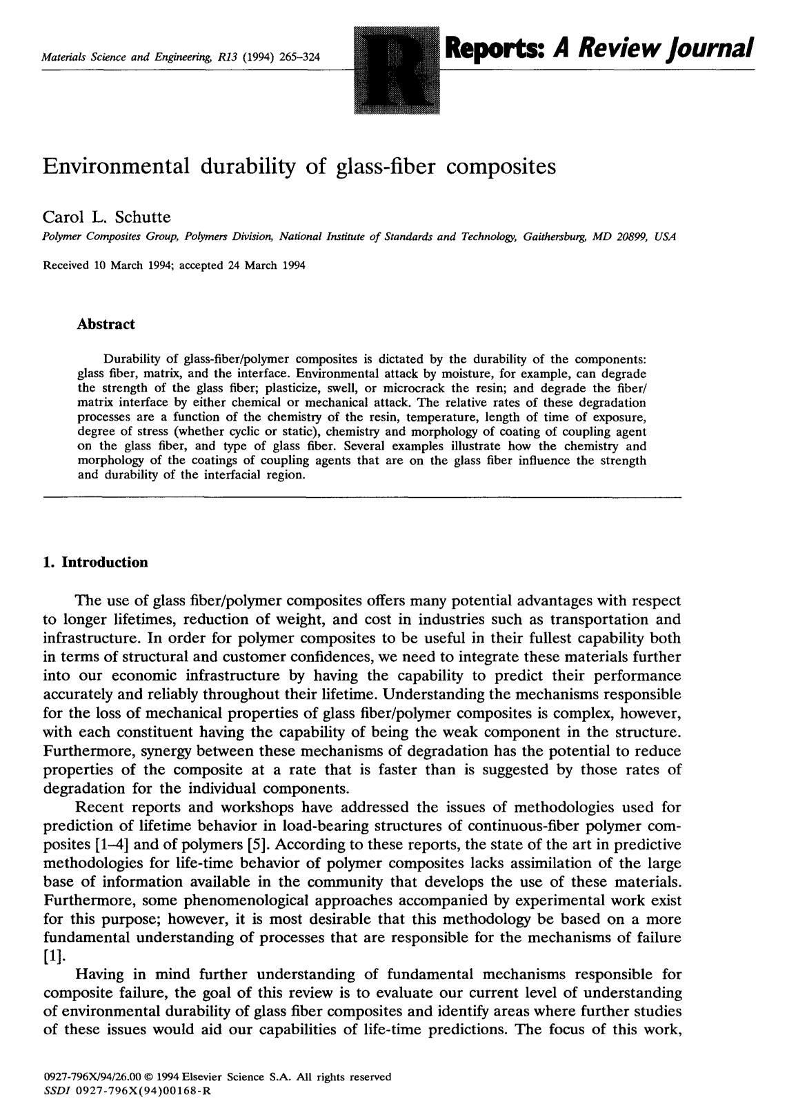 capa de livro Environmental durability of glass-fiber composites