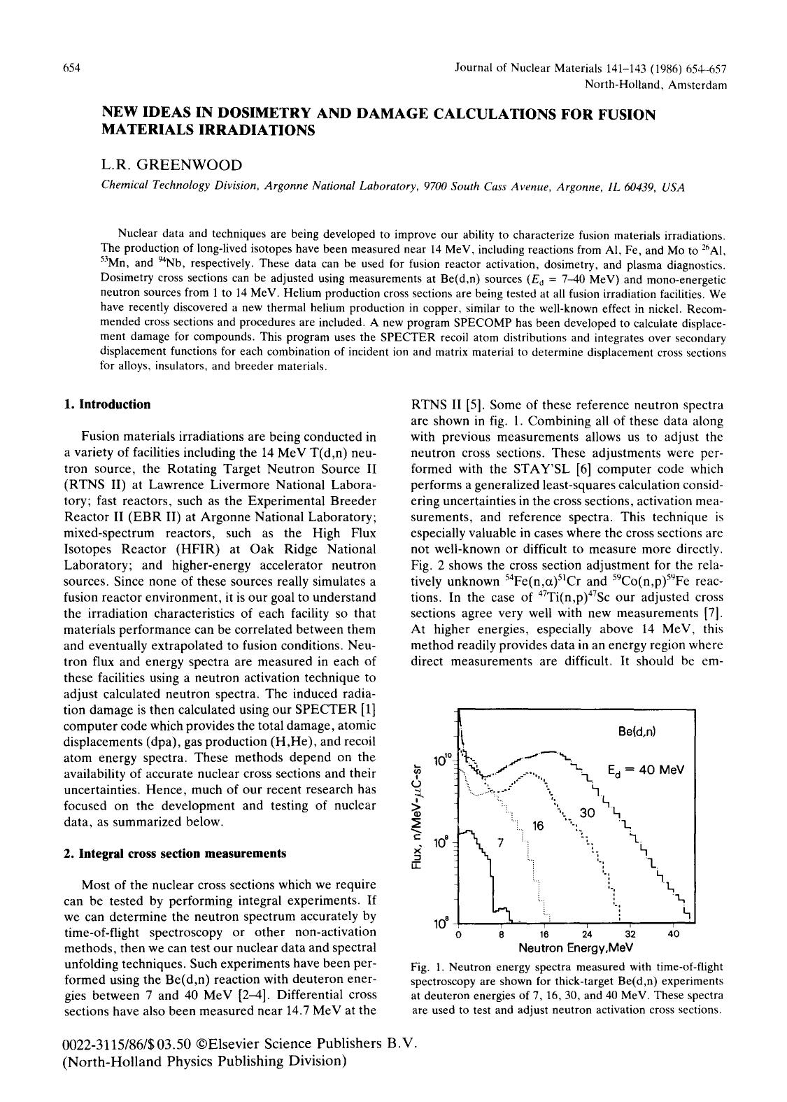 Couverture New ideas in dosimetry and damage calculations for fusion materials irradiations