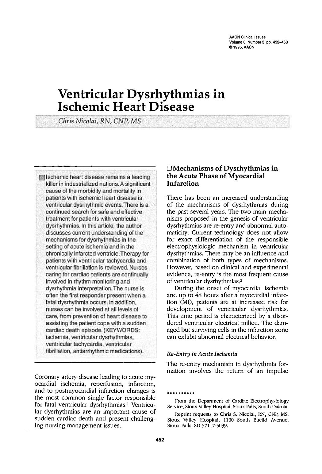Κάλυψη βιβλίων Ventricular Dysrhythmias in Ischemic Heart Disease