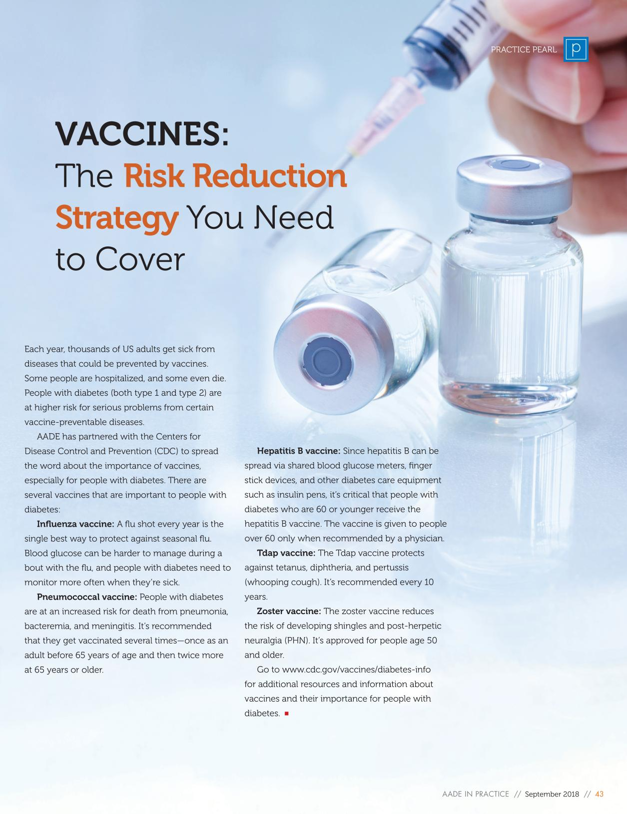 Book cover Vaccines: The Risk Reduction Strategy You Need to Cover