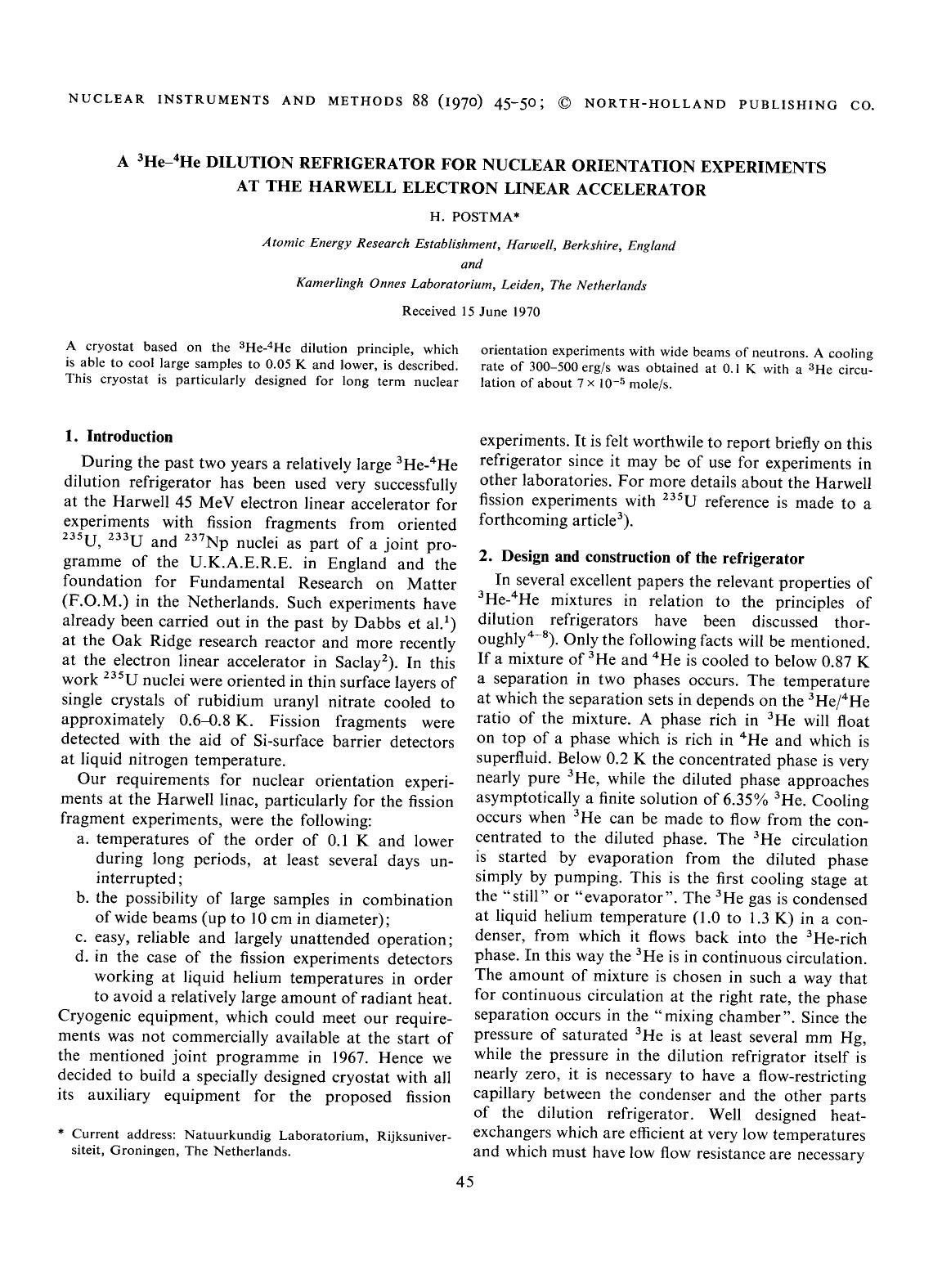 Κάλυψη βιβλίων A 3He4He dilution refrigerator for nuclear orientation experiments at the Harwell electron linear accelerator