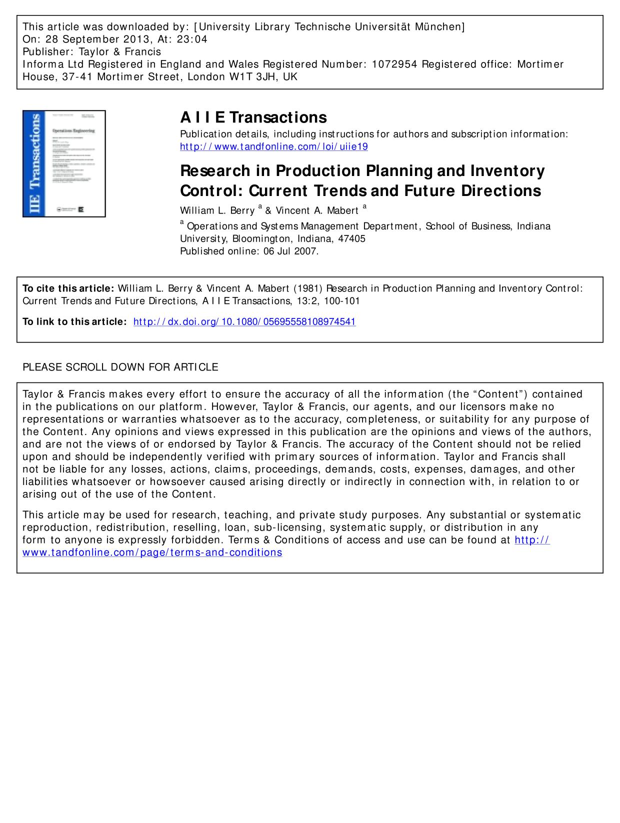 Kover buku Research in Production Planning and Inventory Control: Current Trends and Future Directions