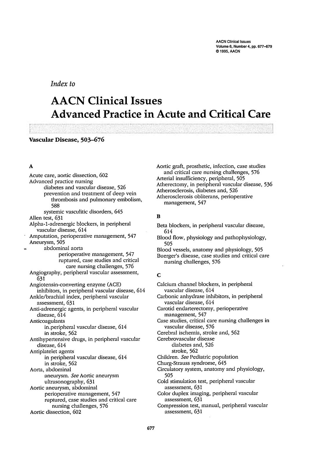 Buchcover AACN Clinical Issues Advanced Practice in Acute and Critical Care