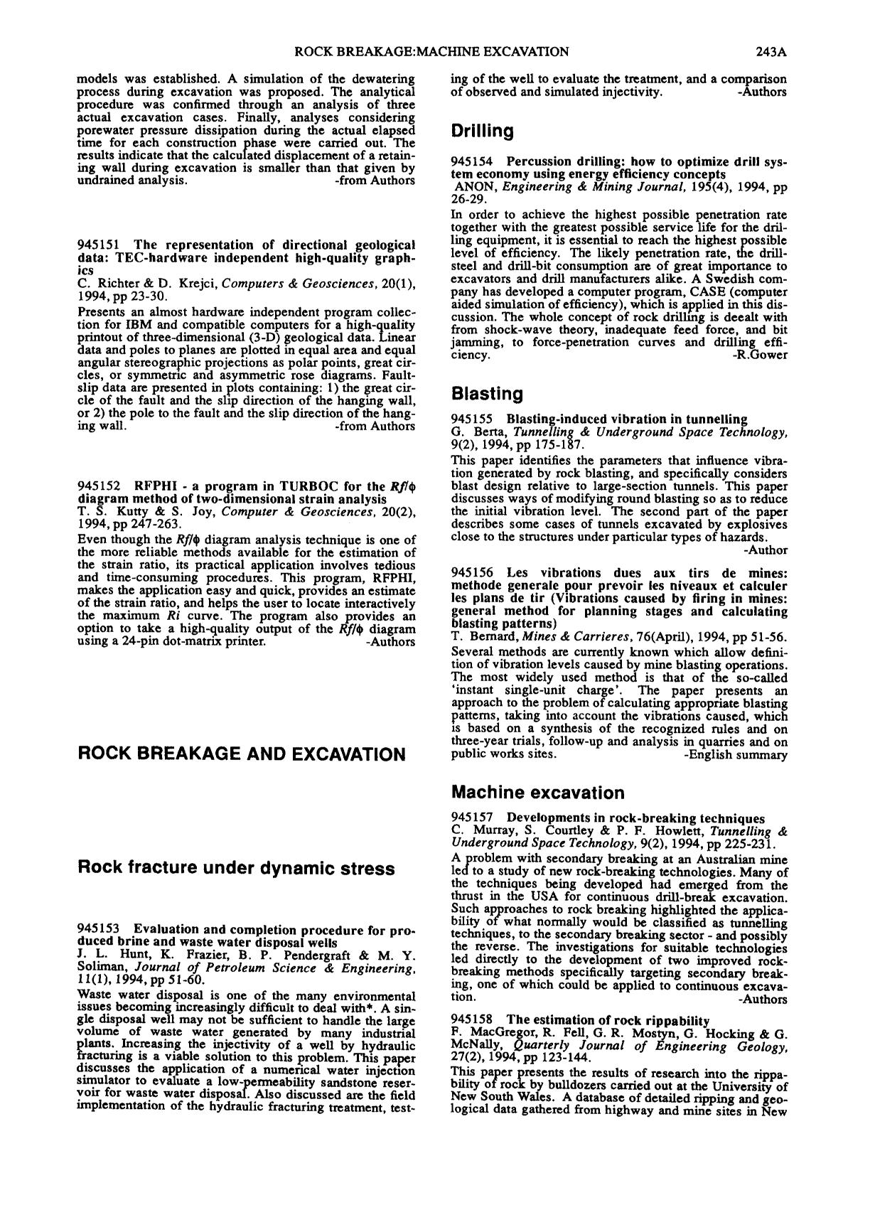 La couverture du livre RFPHI - a program in TURBOC for the Rf/ø diagram method of two-dimensional strain analysis: T. S. Kutty & S. Joy, Computer & Geosciences, 20(2), 1994, pp 247–263