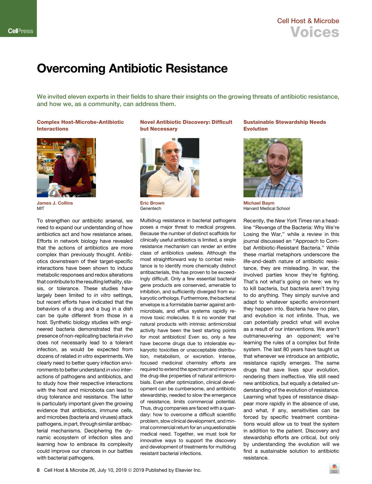 Book cover Overcoming Antibiotic Resistance