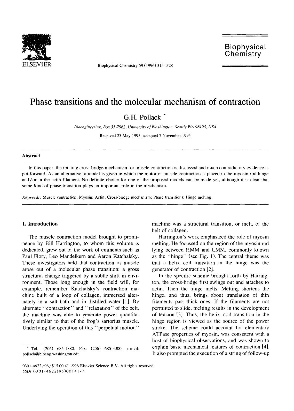 Okładka książki Phase transitions and the molecular mechanism of contraction