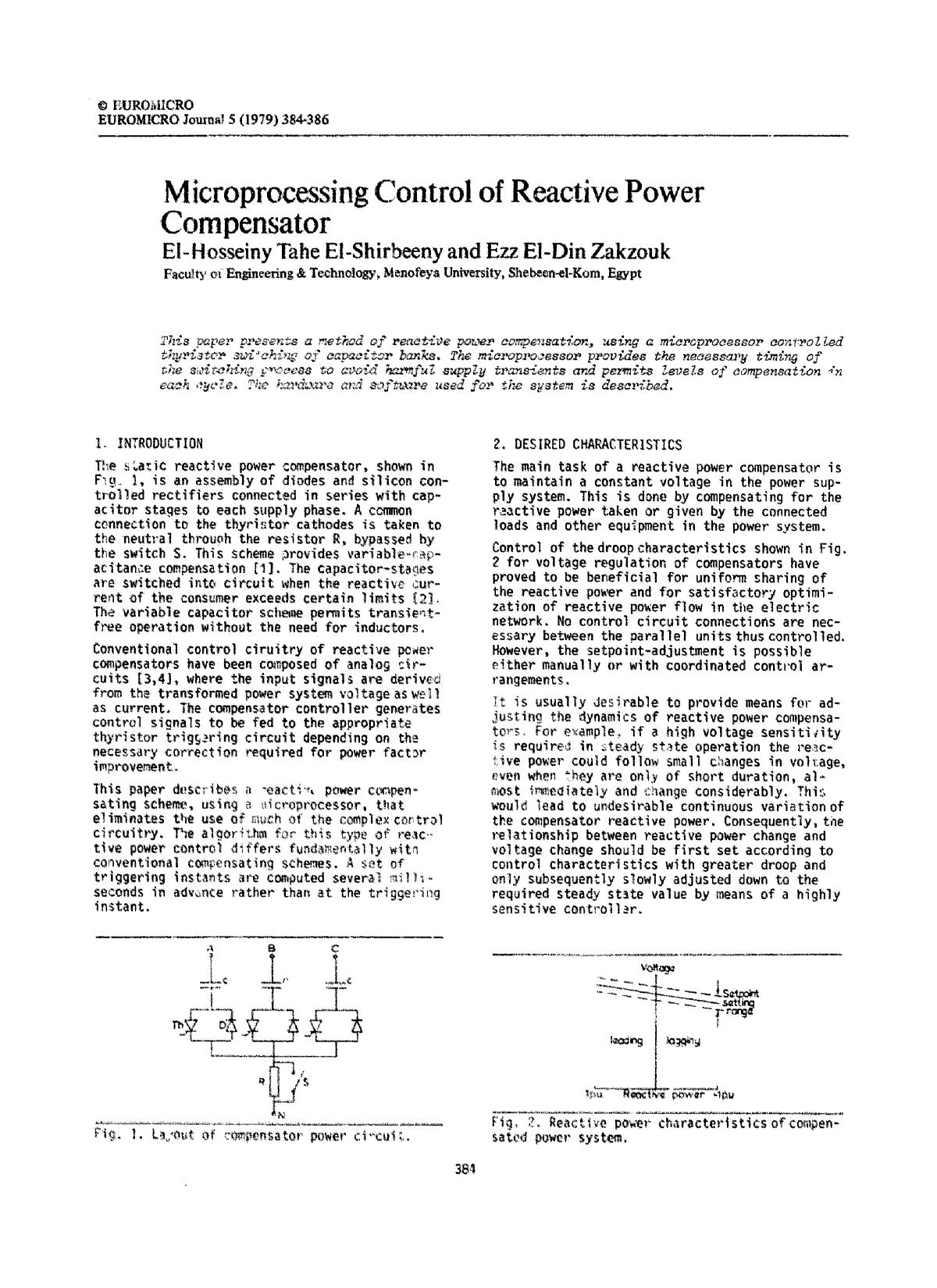 पुस्तक कवर Microprocessing control of reactive power compensator