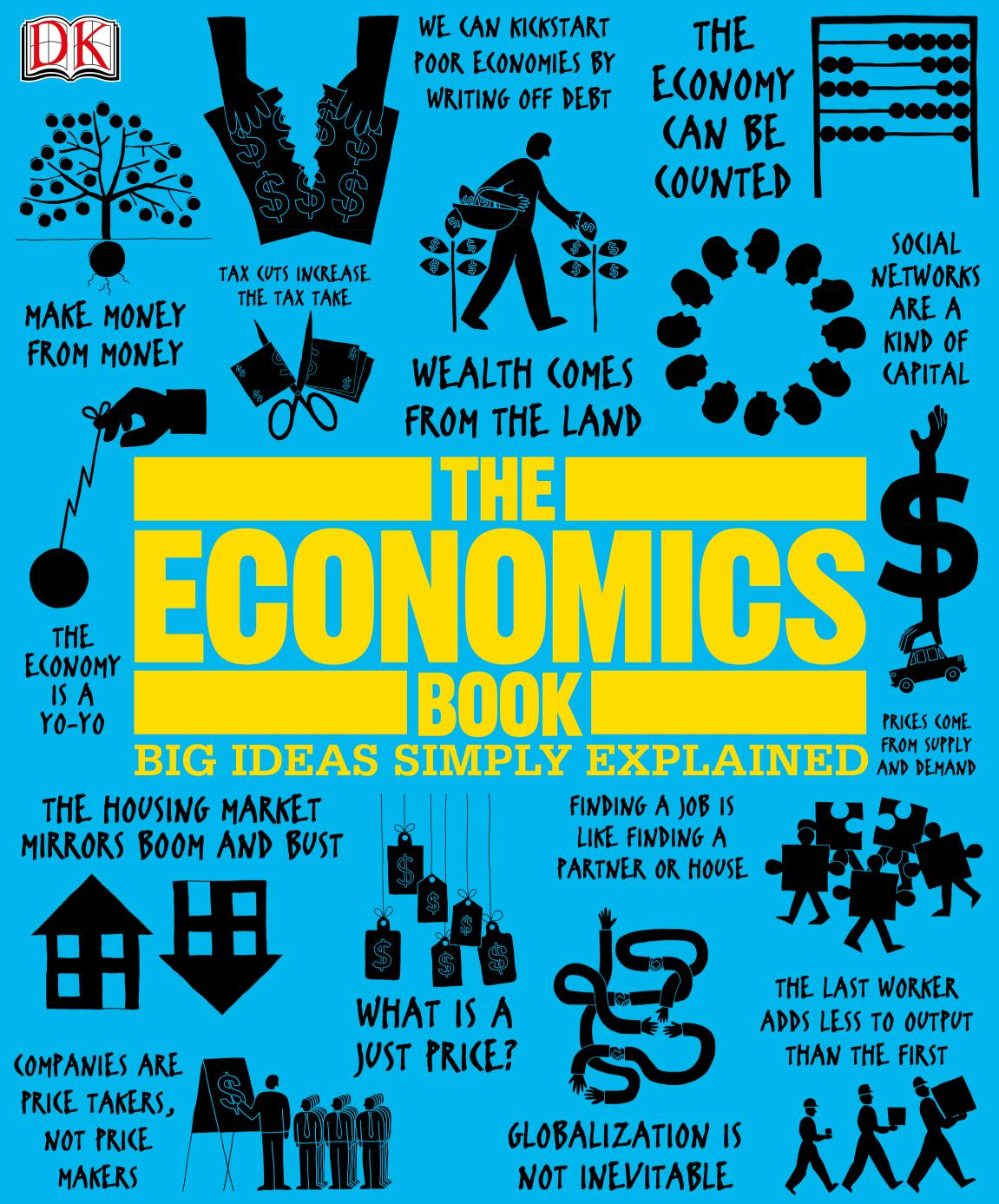 पुस्तक आवरण The Economics Book (Big Ideas Simply Explained)