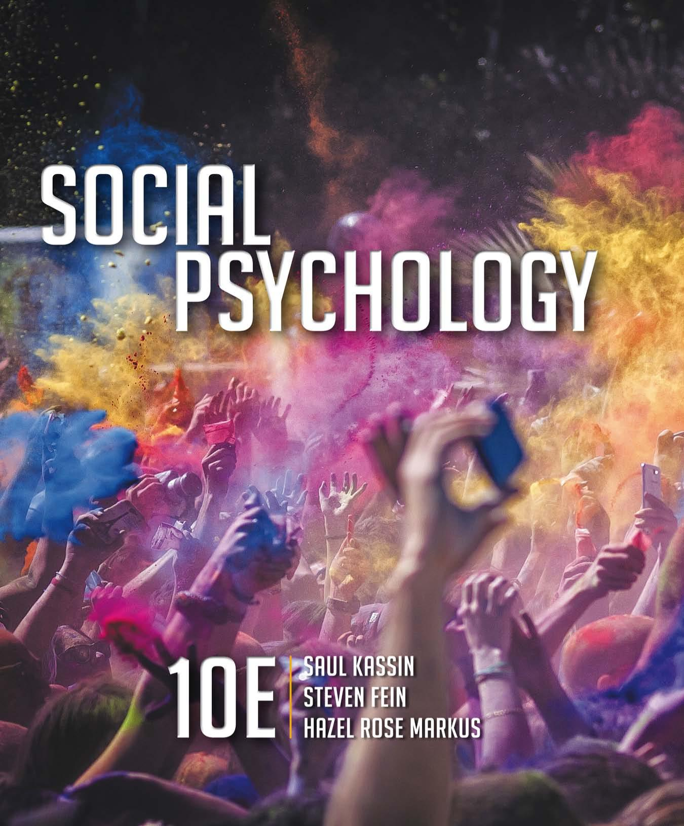 Book cover Social Psychology, Tenth Edition