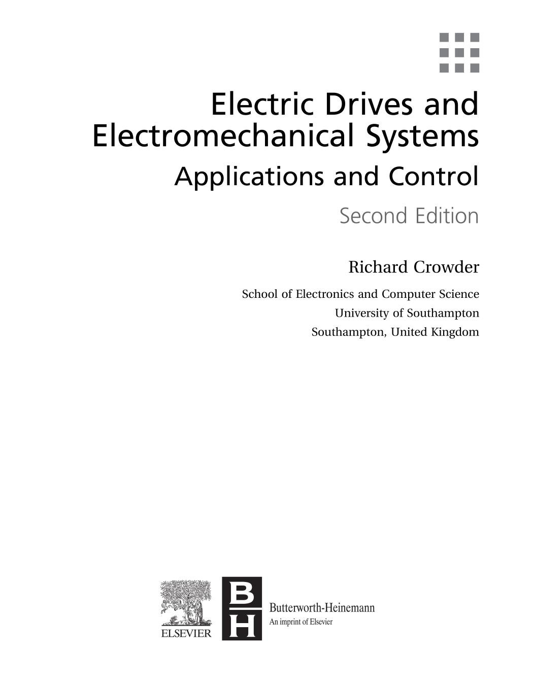 Обложка книги Electric Drives and Electromechanical Systems 2nd Edition 2019