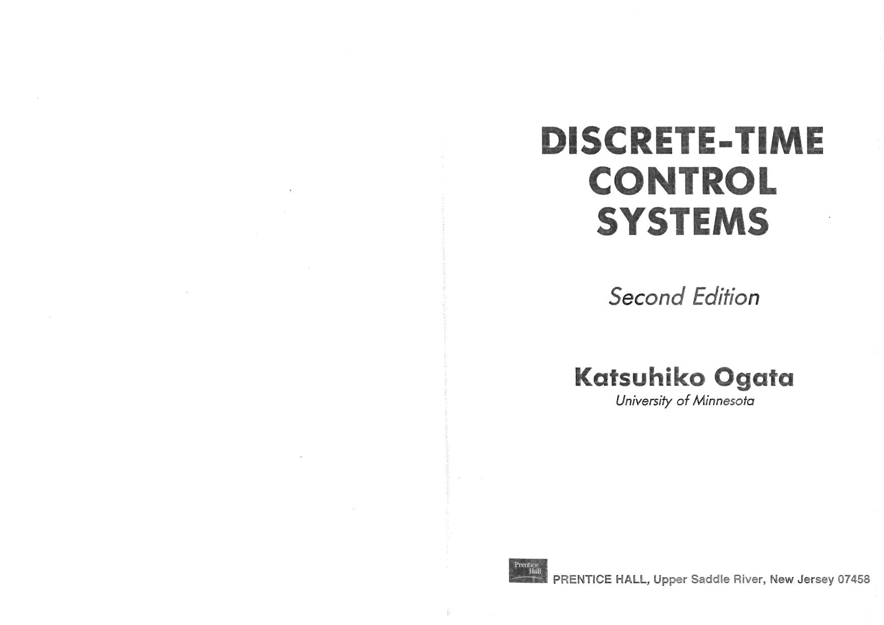غلاف الكتاب Discrete-Time Control Systems 2nd Edition