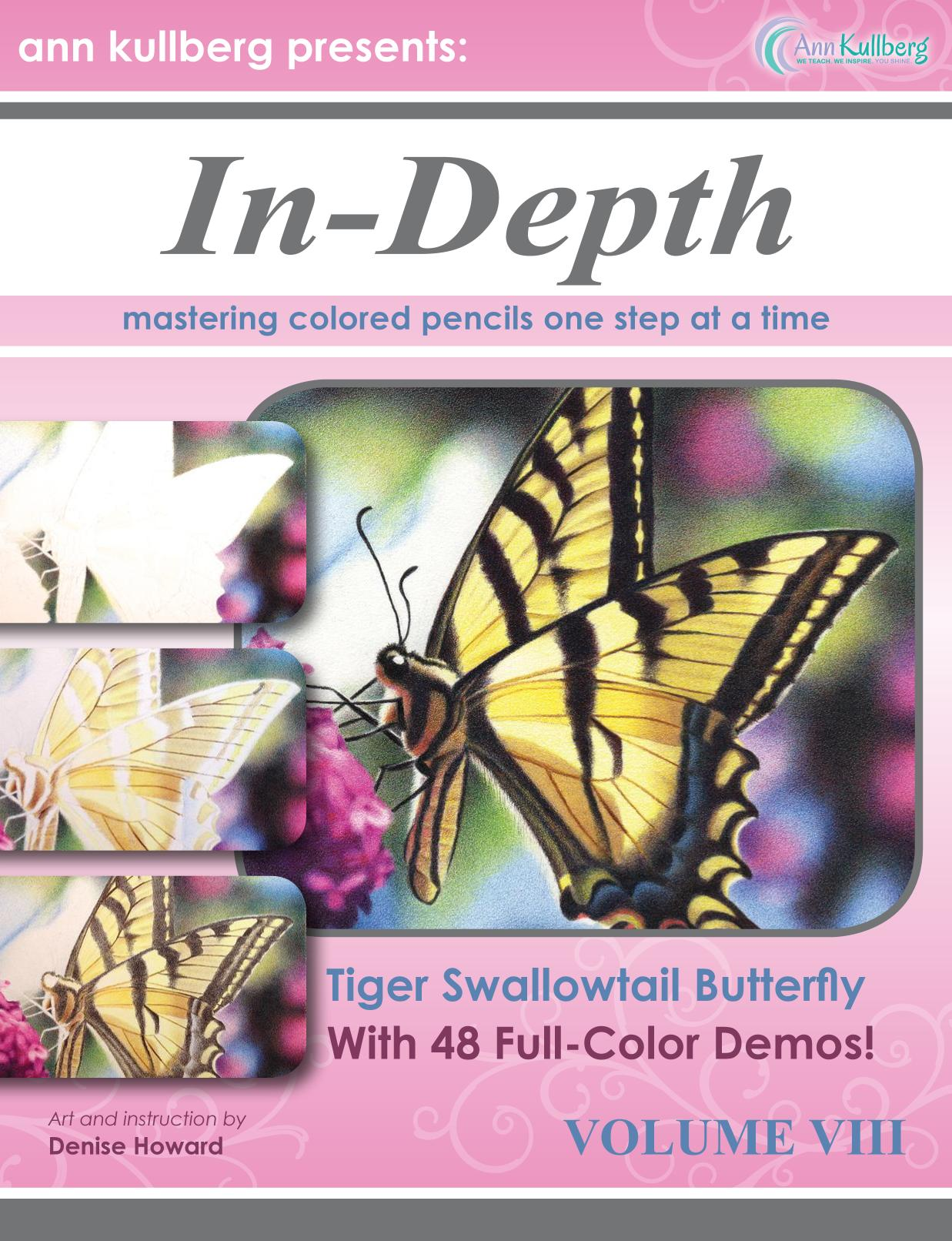Κάλυψη βιβλίων In-Depth Colored Pencil Tutorial Tiger Swallowtail Butterfly